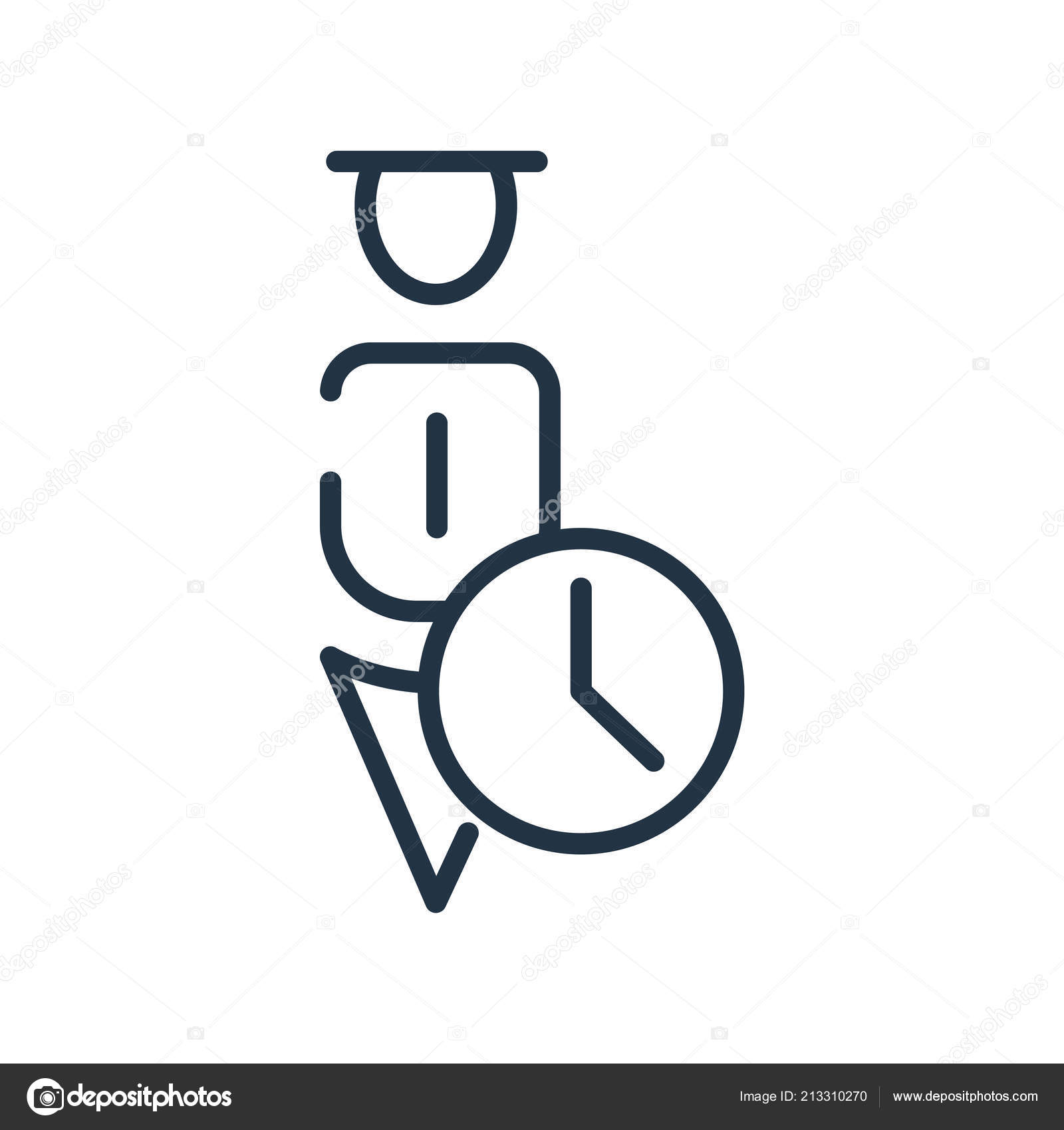 User Icon Vector Isolated On White Background User Sign Line