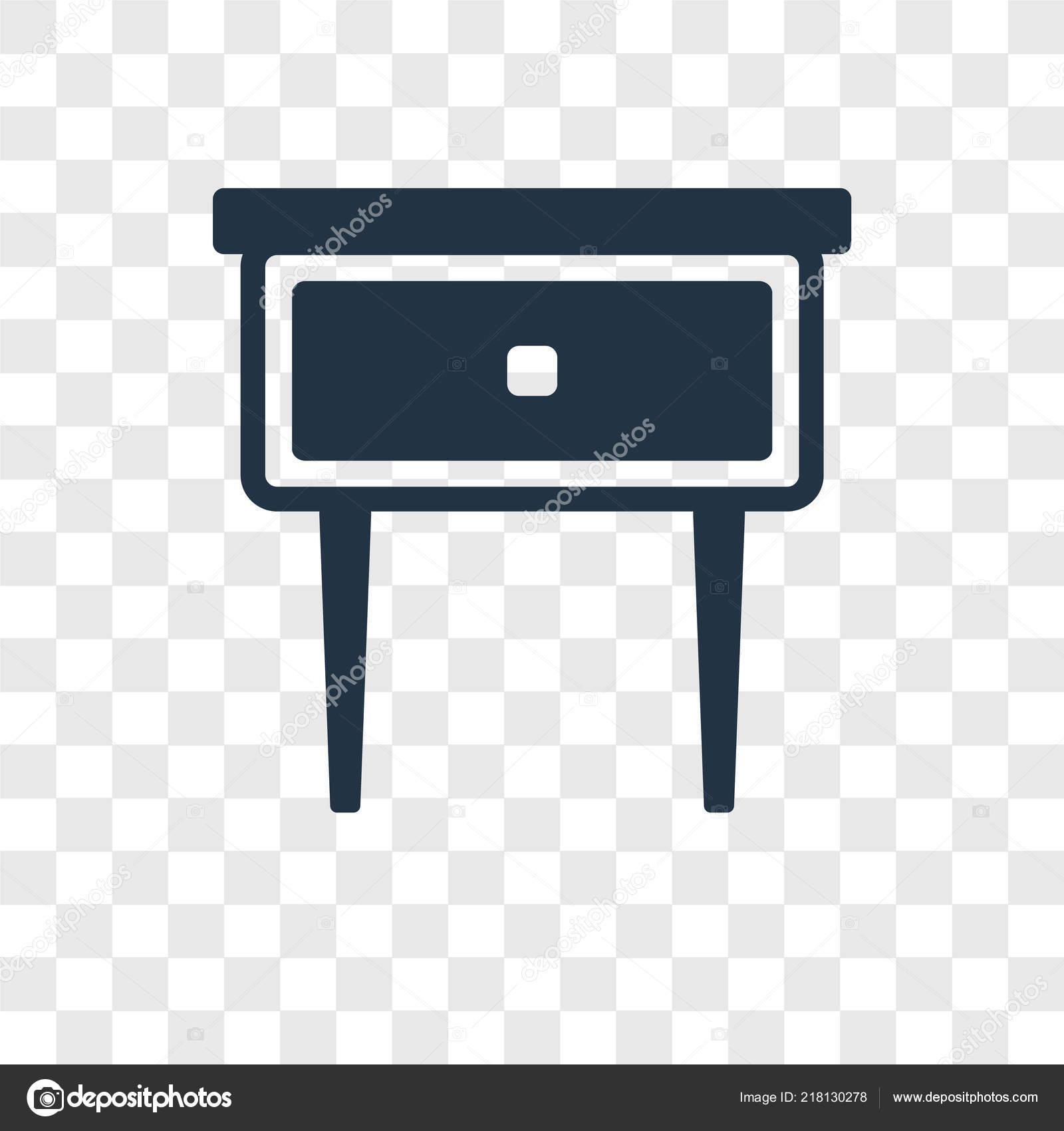 Icone Vecteur Table Chevet Isole Sur Fond Transparent Concept Chevet