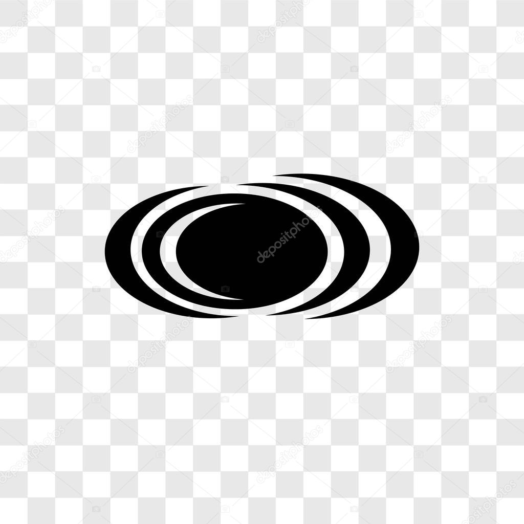 Black hole vector icon isolated on transparent background, Black hole transparency logo concept