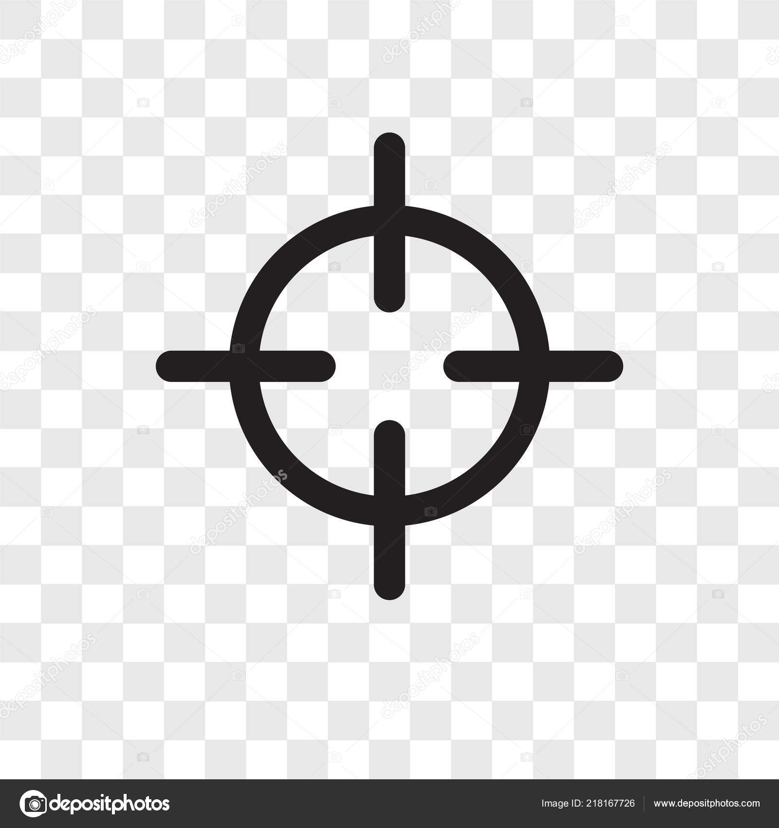 Target Vector Icon Isolated Transparent Background Target Transparency Logo Concept Stock Vector C Topvectorstock 218167726