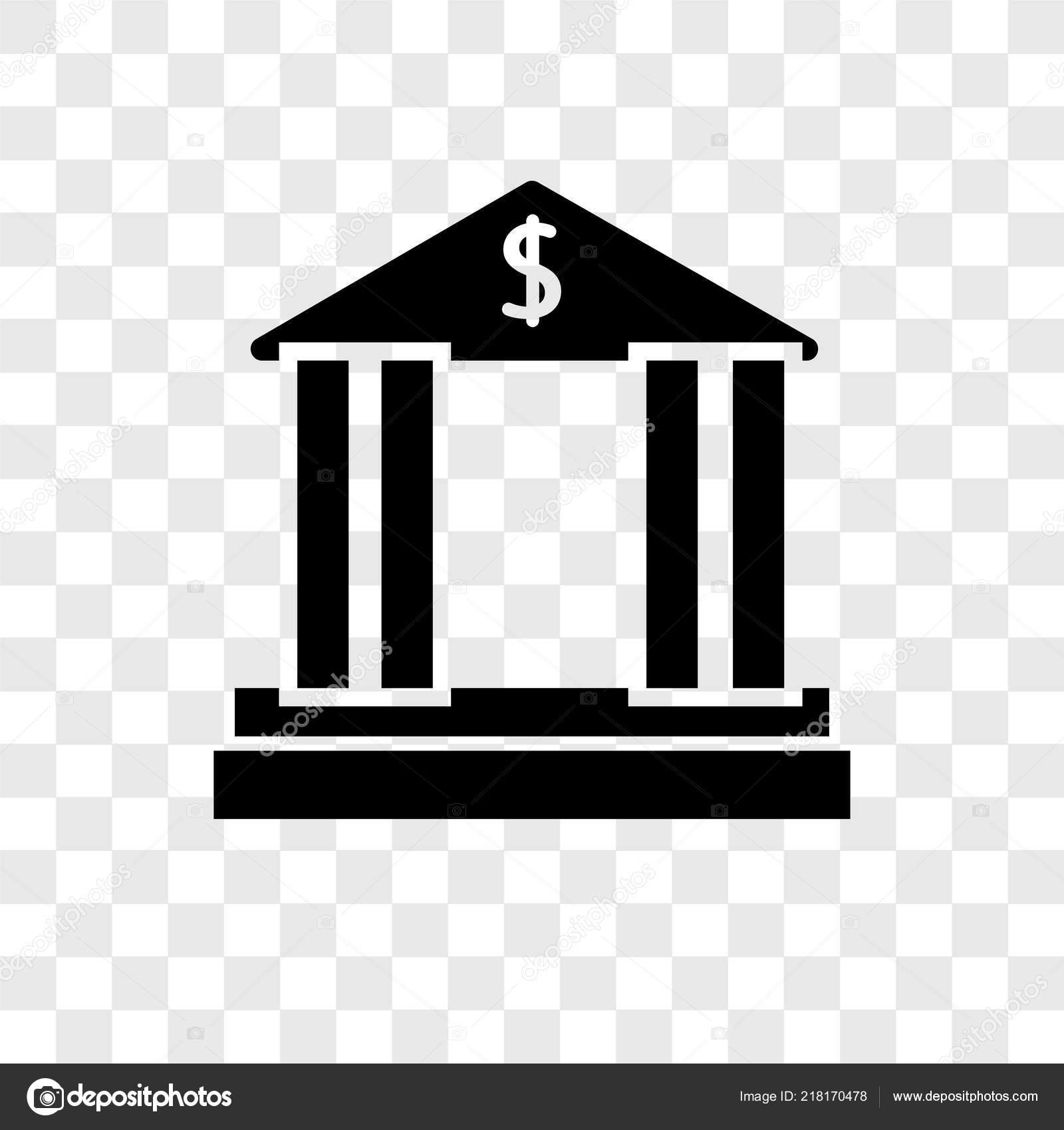 Banque Vectorielle icône vecteur banque isolé sur fond transparent concept logo banque