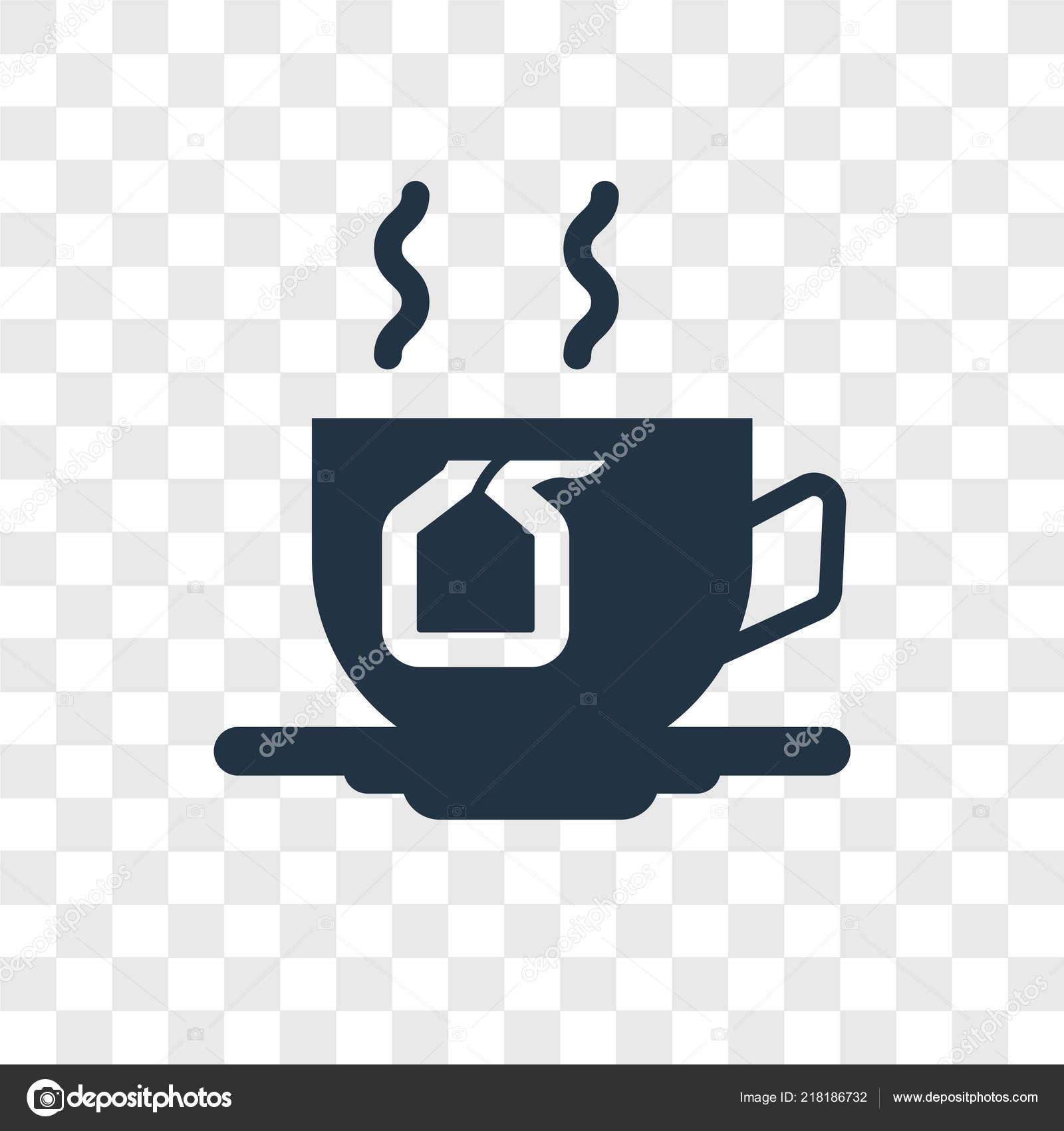 tea icon trendy design style tea icon isolated transparent background stock vector c topvectorstock 218186732 depositphotos