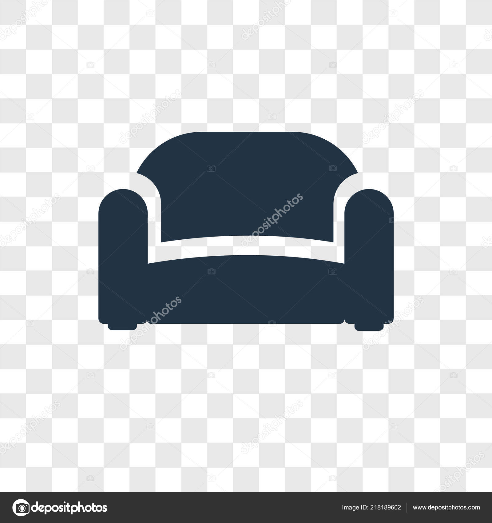 Sofa Icon Trendy Design Style Sofa Icon Isolated Transparent