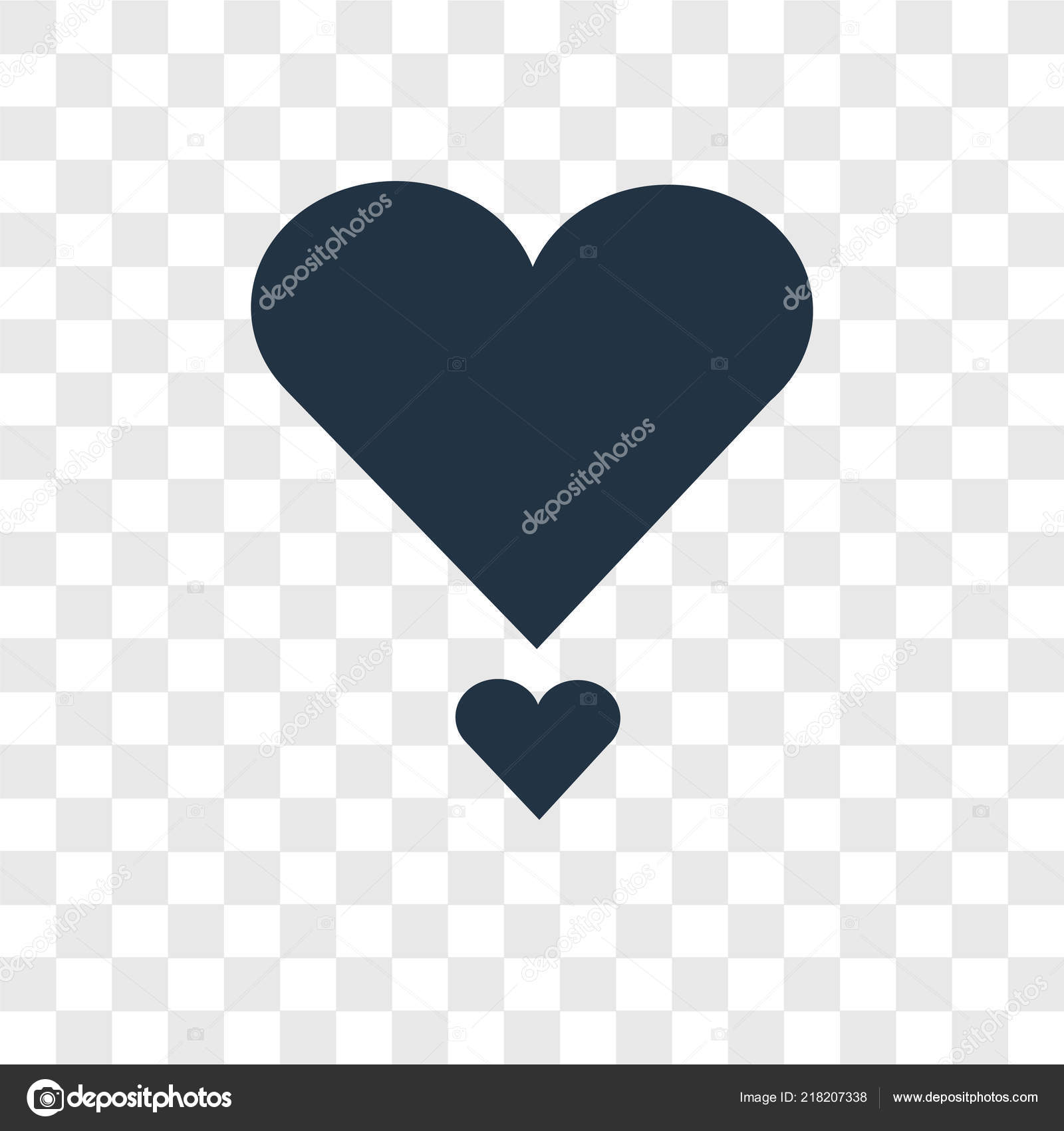 Heart Icon Trendy Design Style Heart Icon Isolated