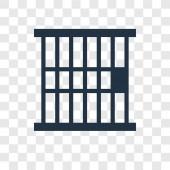 vězení ikona v módní design stylu. vězení ikona izolované na průhledné pozadí. vězení vektorové ikony jednoduché a moderní Béčko pro webové stránky, mobilní, logo, app, Ui. vězení ikonu vektorové ilustrace, Eps10.