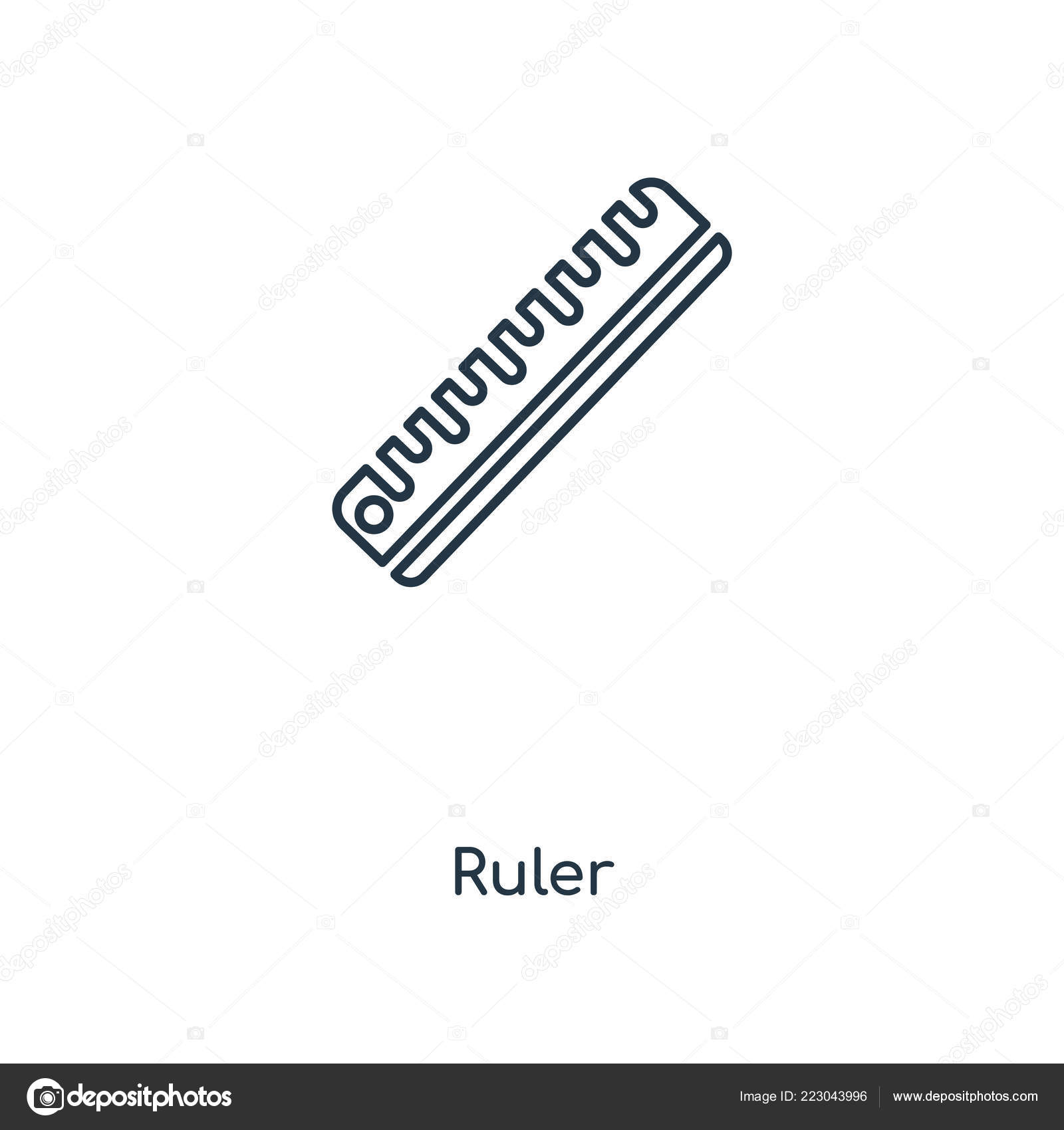 ruler icon trendy design style ruler icon isolated white background stock vector c topvectorstock 223043996 depositphotos