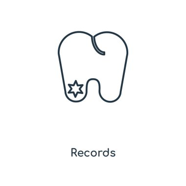 records icon in trendy design style. records icon isolated on white background. records vector icon simple and modern flat symbol for web site, mobile, logo, app, UI. records icon vector illustration, EPS10.