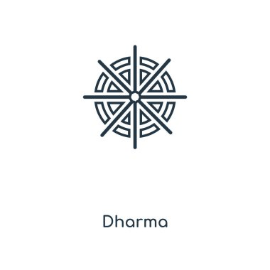 Dharma icon in trendy design style. dharma icon isolated on white background. dharma vector icon simple and modern flat symbol for web site, mobile, logo, app, UI. dharma icon vector illustration, EPS10. stock vector