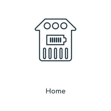 home icon in trendy design style. home icon isolated on white background. home vector icon simple and modern flat symbol for web site, mobile, logo, app, UI. home icon vector illustration, EPS10.
