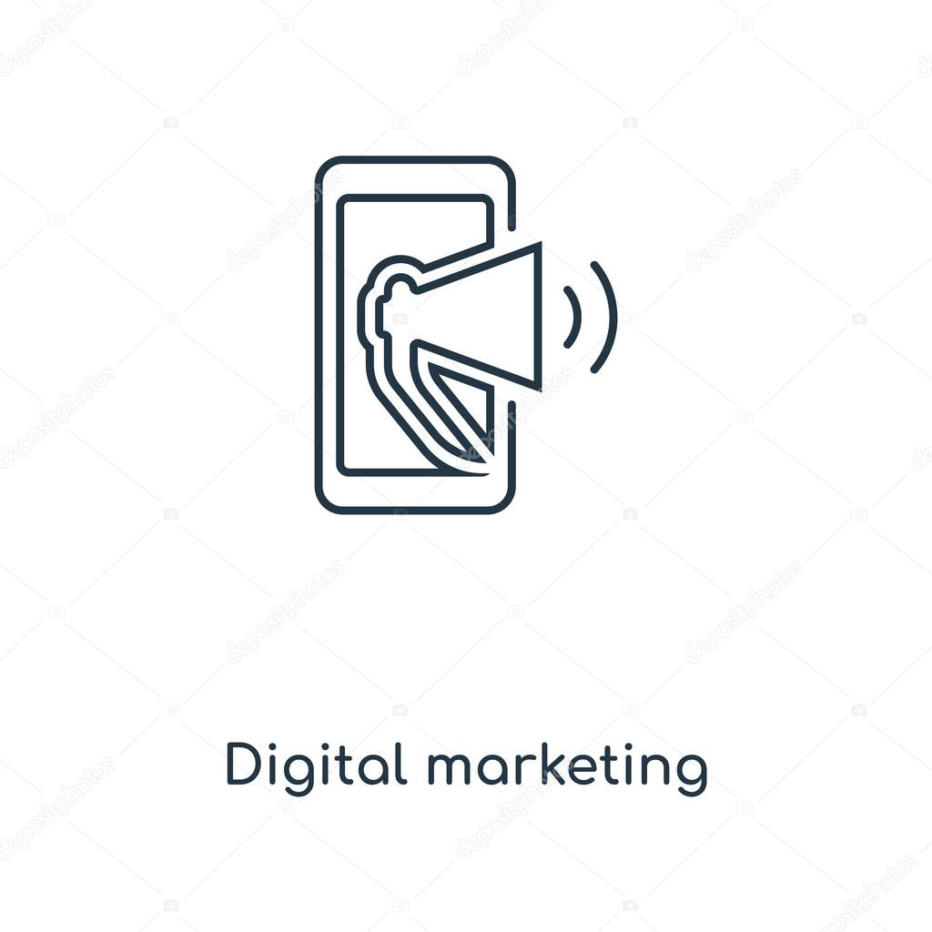 digital marketing icon in trendy design style digital marketing icon isolated on white background digital marketing vector icon simple and modern flat symbol for web site mobile logo app ui digital digital marketing icon in trendy design