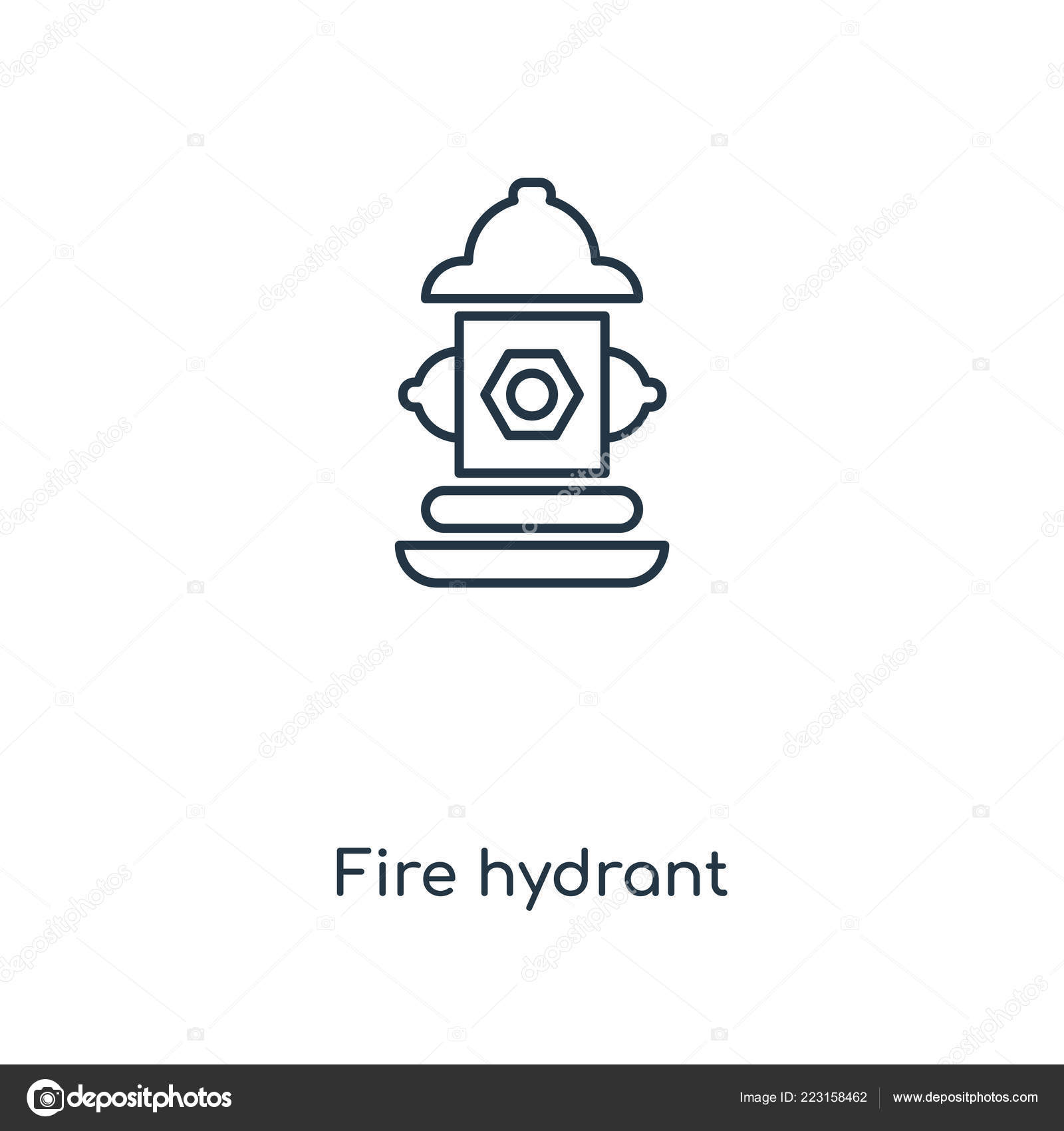 Fire Element Symbol Outline Wiring Diagrams Dilznoofus39s Tessellation Book Hydrant Concept Line Icon Linear Rh Depositphotos Com Air