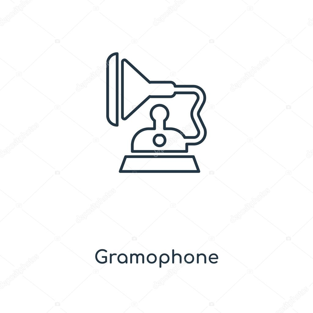 gramophone icon in trendy design style gramophone icon isolated on white background gramophone vector icon simple and modern flat symbol for web site mobile logo app ui gramophone icon vector illustration wdrfree