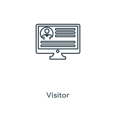 visitor icon in trendy design style. visitor icon isolated on white background. visitor vector icon simple and modern flat symbol for web site, mobile, logo, app, UI. visitor icon vector illustration, EPS10.