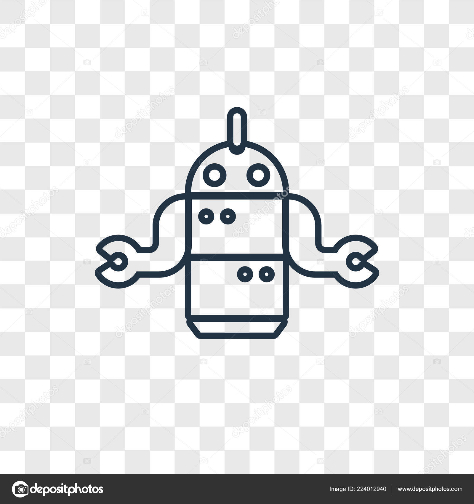 Robot Icon Trendy Design Style Robot Icon Isolated