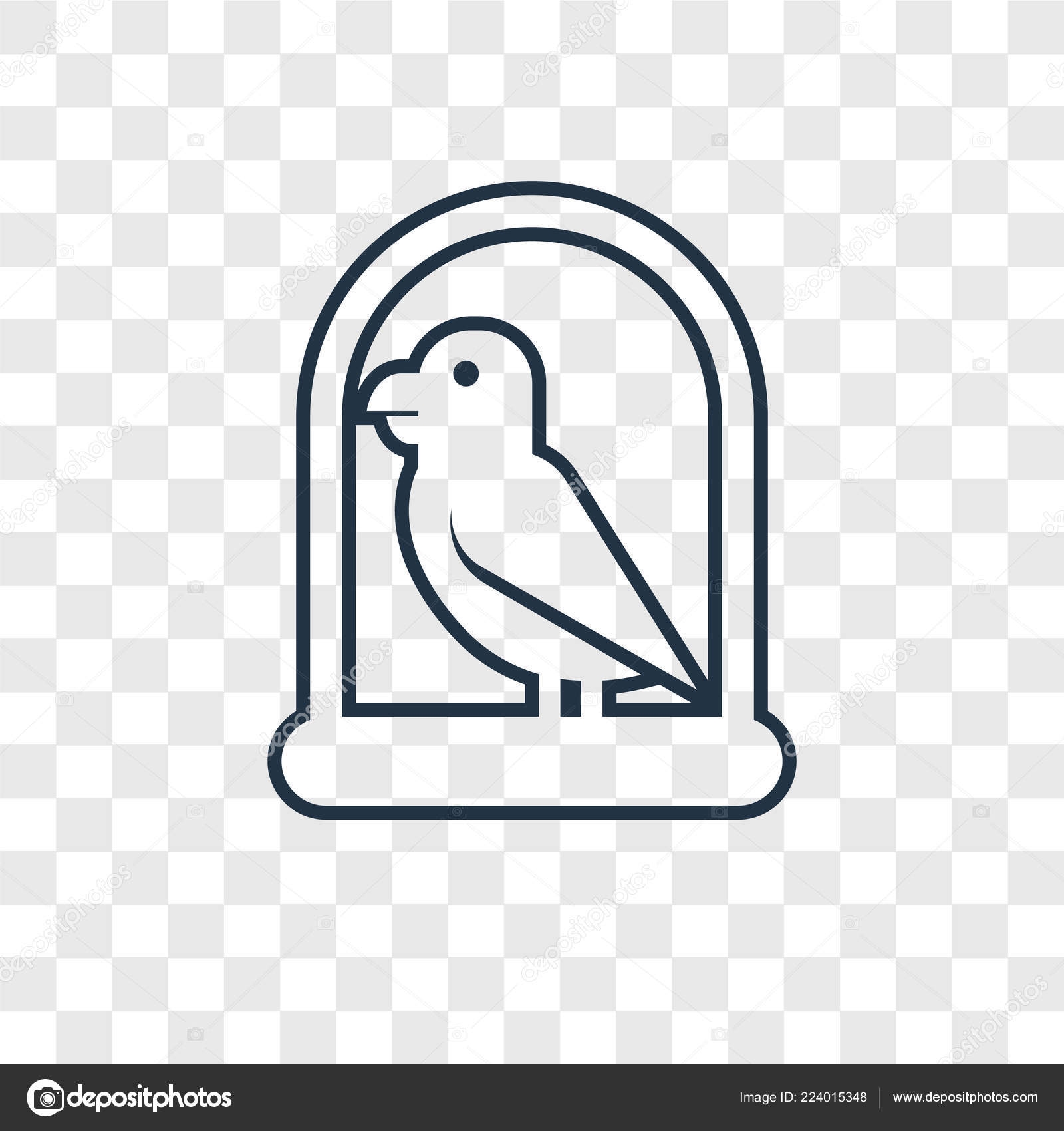 Parrot Icon Trendy Design Style Parrot Icon Isolated