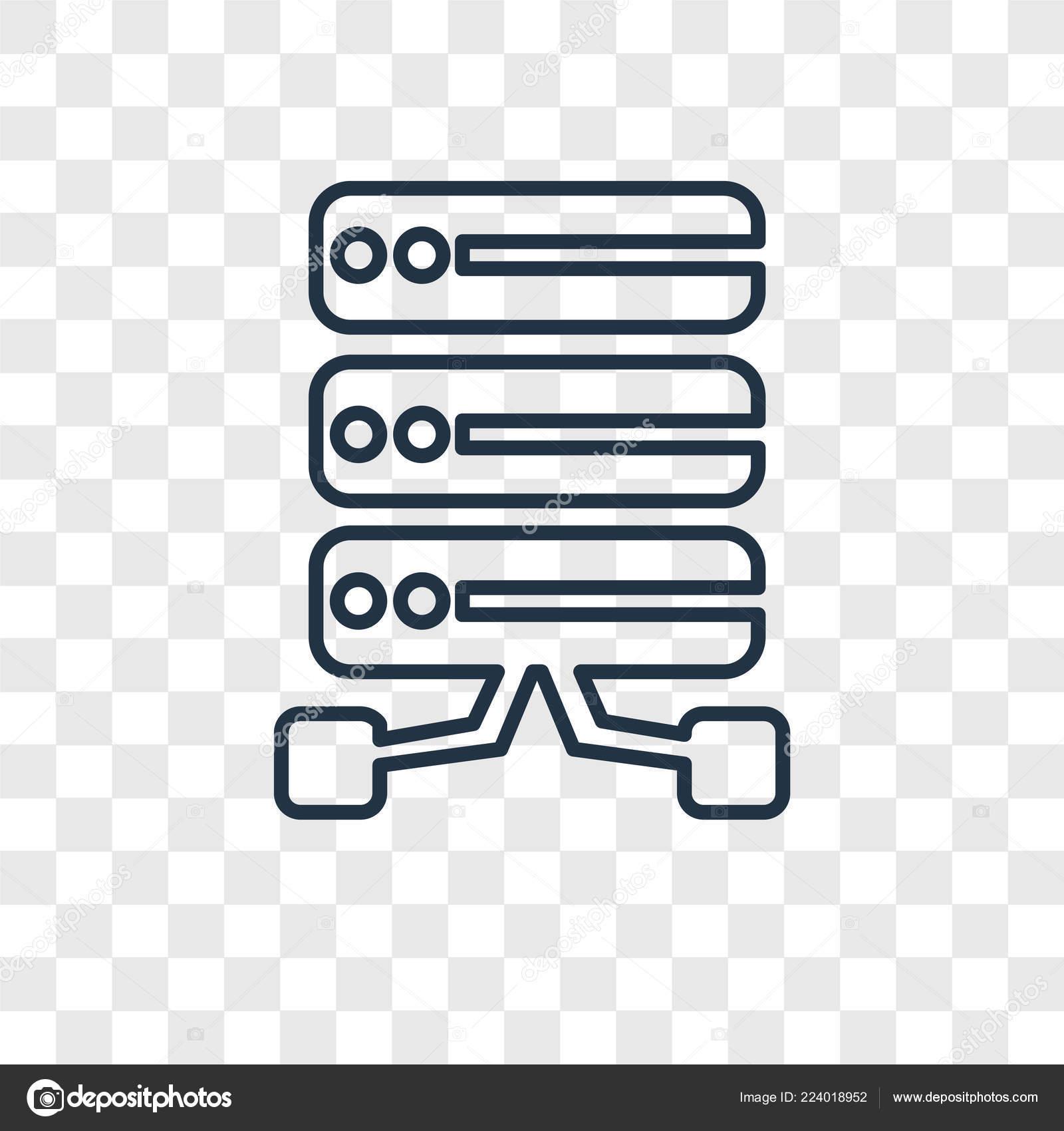 Database Icon Trendy Design Style Database Icon Isolated