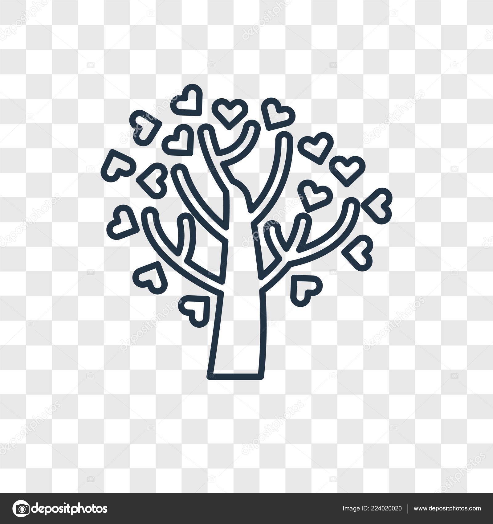 Tree Hearts Icon Trendy Design Style Tree Hearts Icon