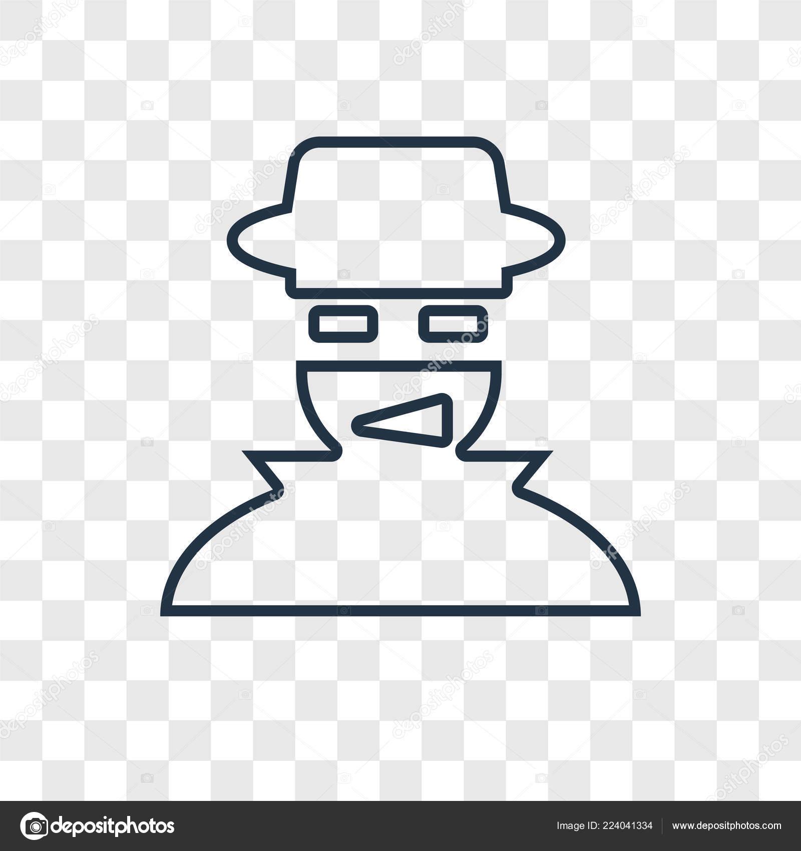Hacker Icon Trendy Design Style Hacker Icon Isolated Transparent Background Stock Vector C Topvectorstock 224041334