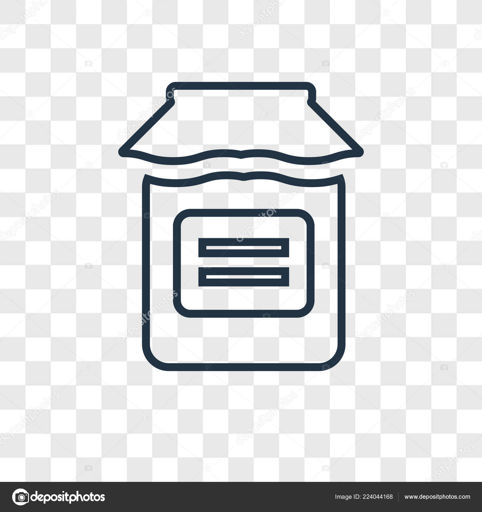 Jar Icon Trendy Design Style Jar Icon Isolated Transparent