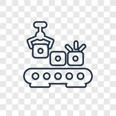 conveyor icon in trendy design style. conveyor icon isolated on transparent background. conveyor vector icon simple and modern flat symbol for web site, mobile, logo, app, UI. conveyor icon vector illustration, EPS10.