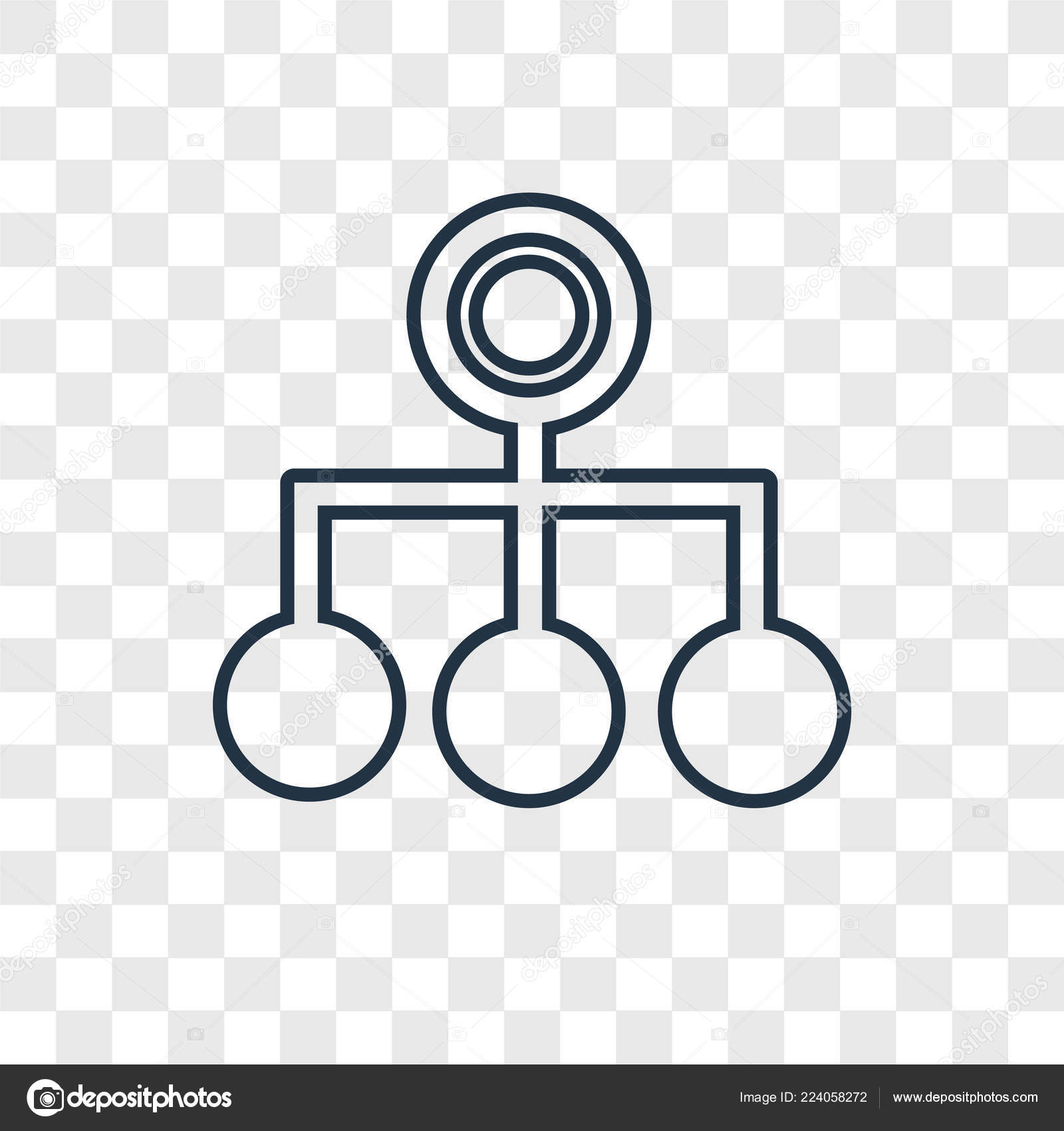 Estructura Jerárquica Concepto Vector Lineal Icono Aislado
