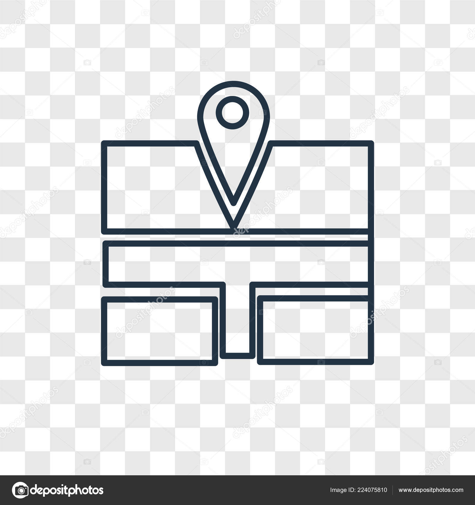 Bus Stop Icon Trendy Design Style Bus Stop Icon Isolated