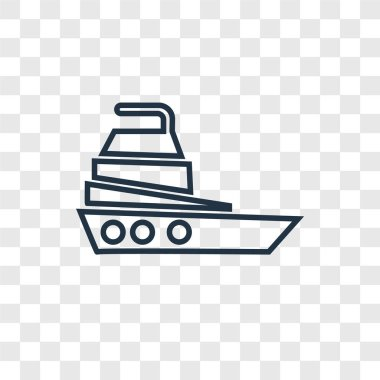 yatch icon in trendy design style. yatch icon isolated on transparent background. yatch vector icon simple and modern flat symbol for web site, mobile, logo, app, UI. yatch icon vector illustration, EPS10.