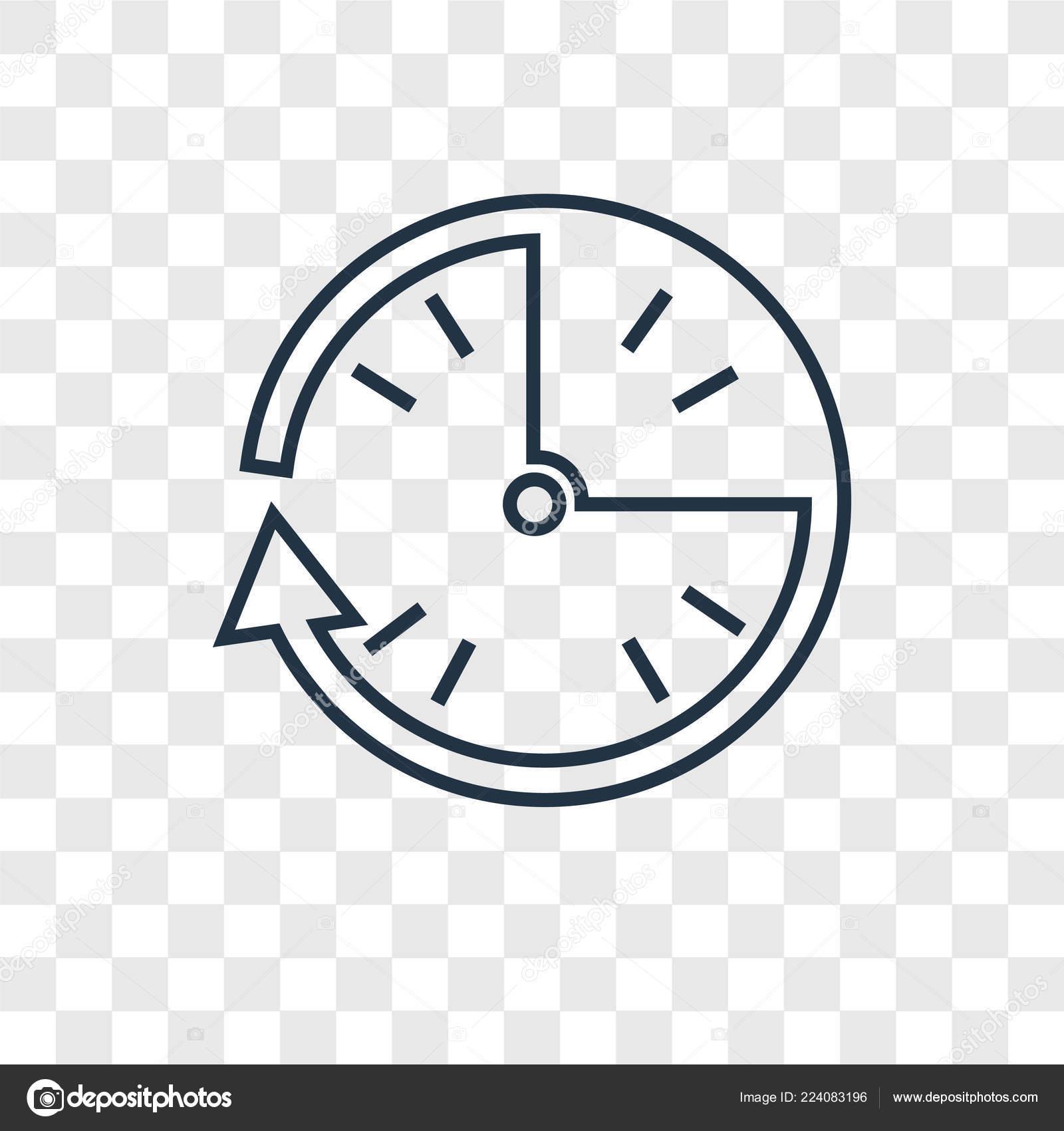 Clock Icon Trendy Design Style Clock Icon Isolated
