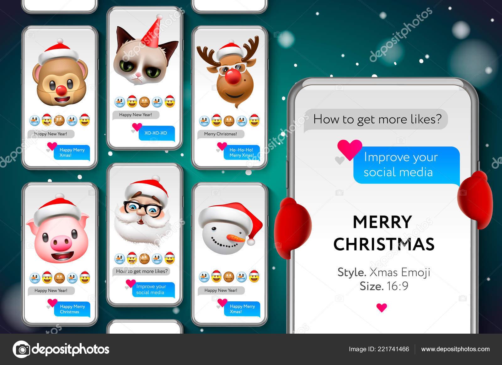 Joyeux Noel Streaming.Modele De Contes De Noel Joyeux Avec Xmas Emoticones