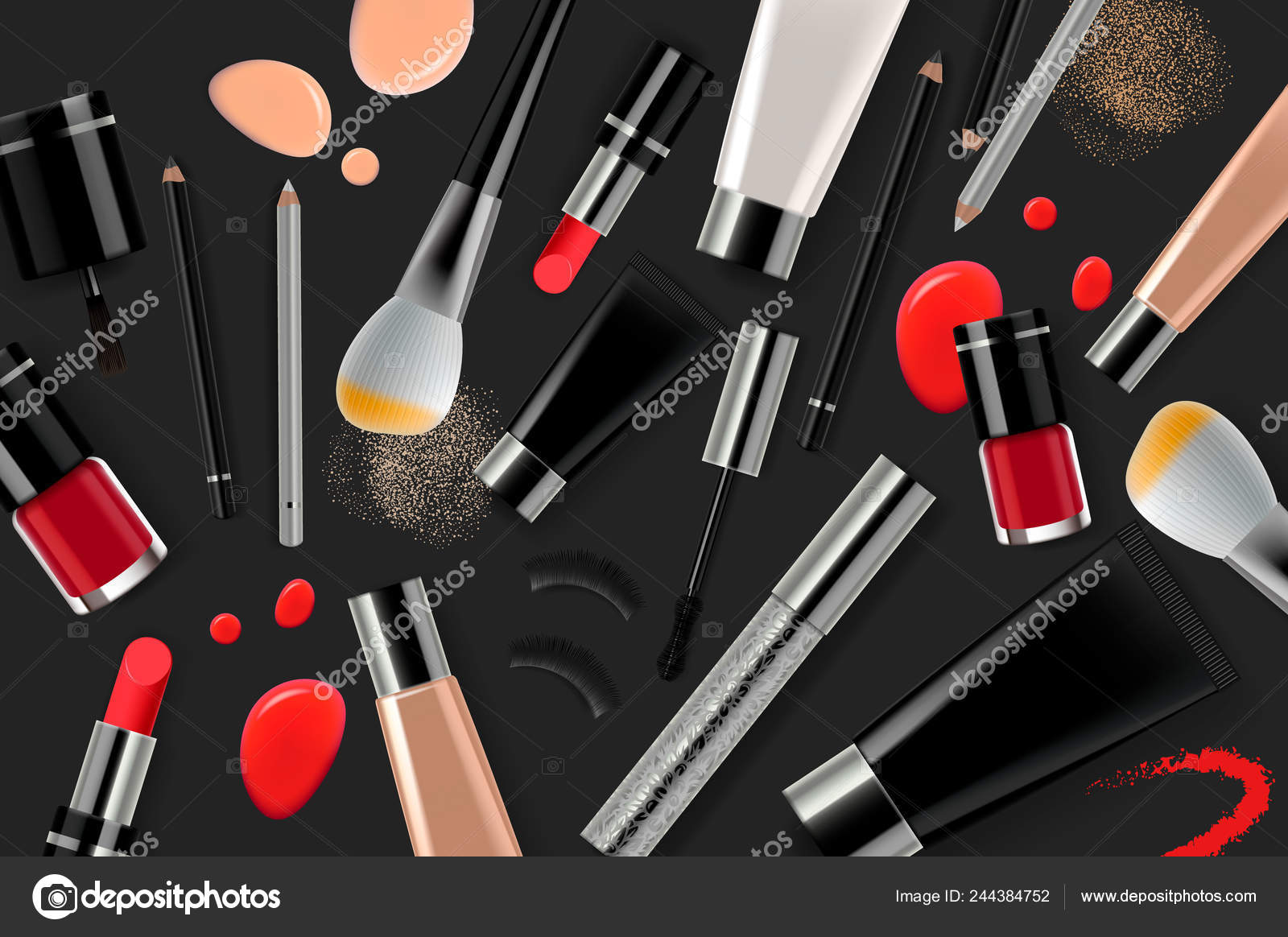 Makeup Banner Template For Online Beauty Store Poster Design With Beauty Products And Cosmetic Online Shopping Vector Illustration Stock Vector C Ikopylove 244384752