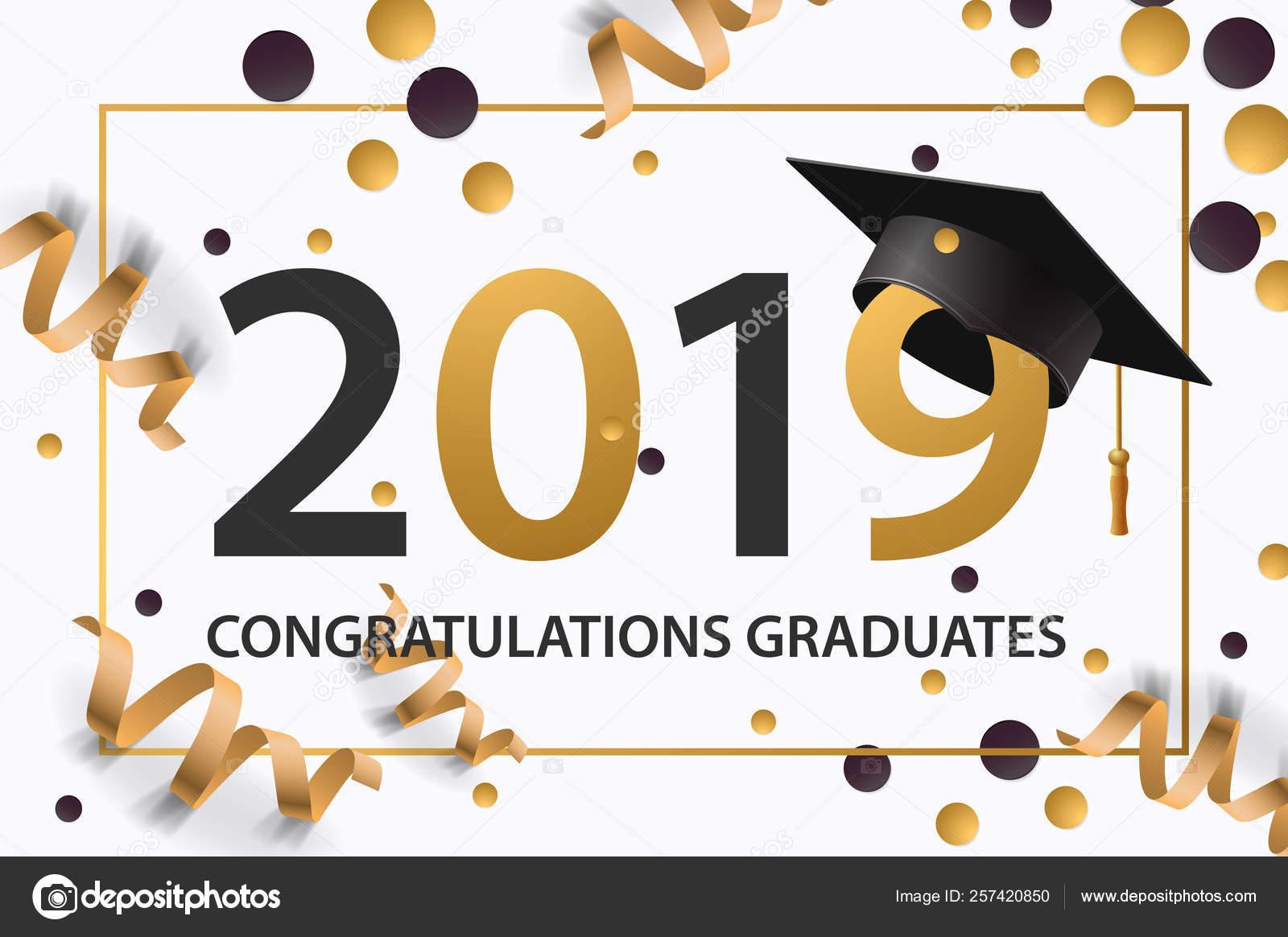 Clase De Graduación De 2019 Cartel Invitación A La Fiesta