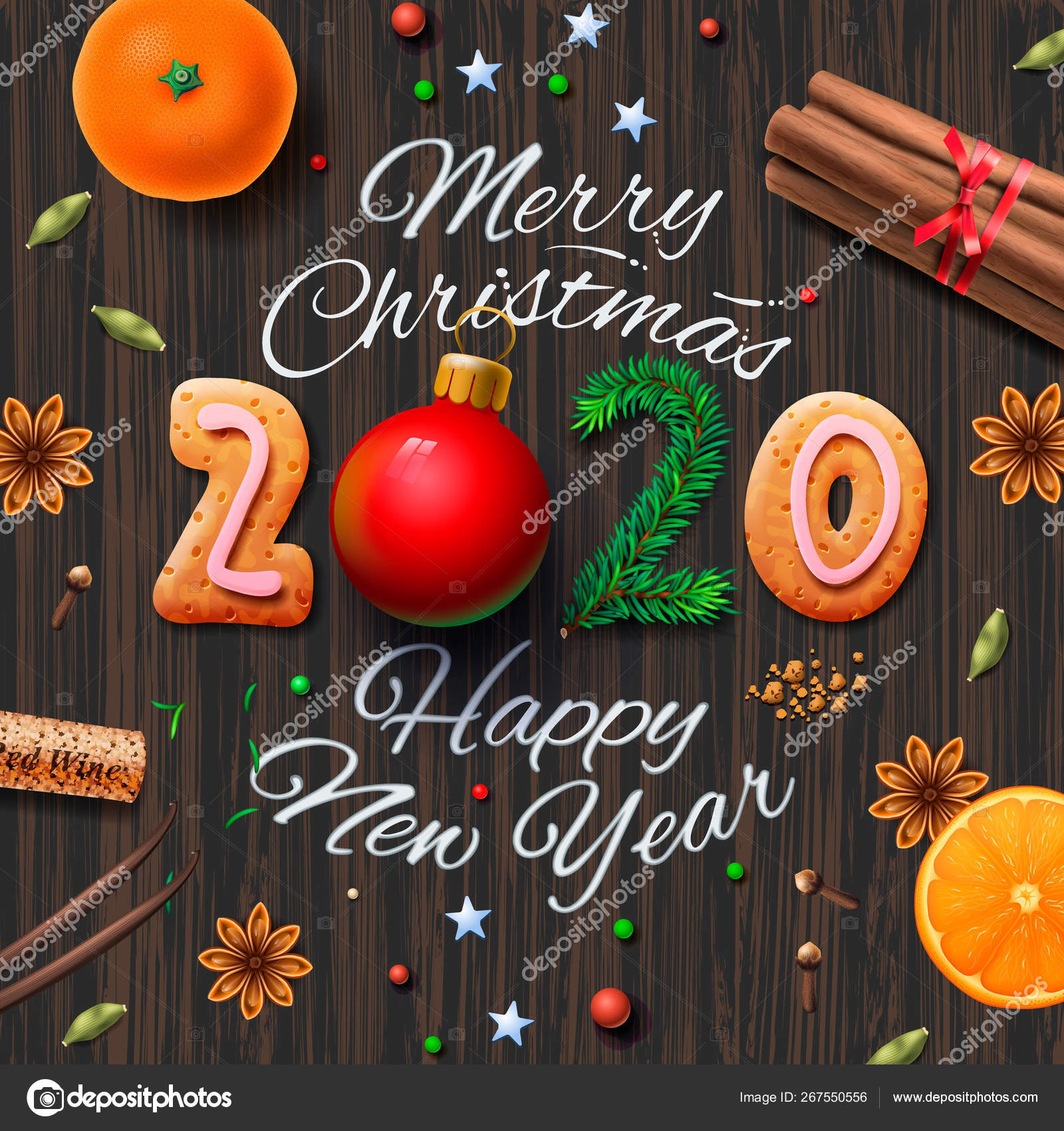 merry christmas happy new year 2020 vintage background with typography and spices for christmas drink mulled wine vector illustration stock vector c ikopylove 267550556 merry christmas happy new year 2020 vintage background with typography and spices for christmas drink mulled wine vector illustration stock vector c ikopylove 267550556