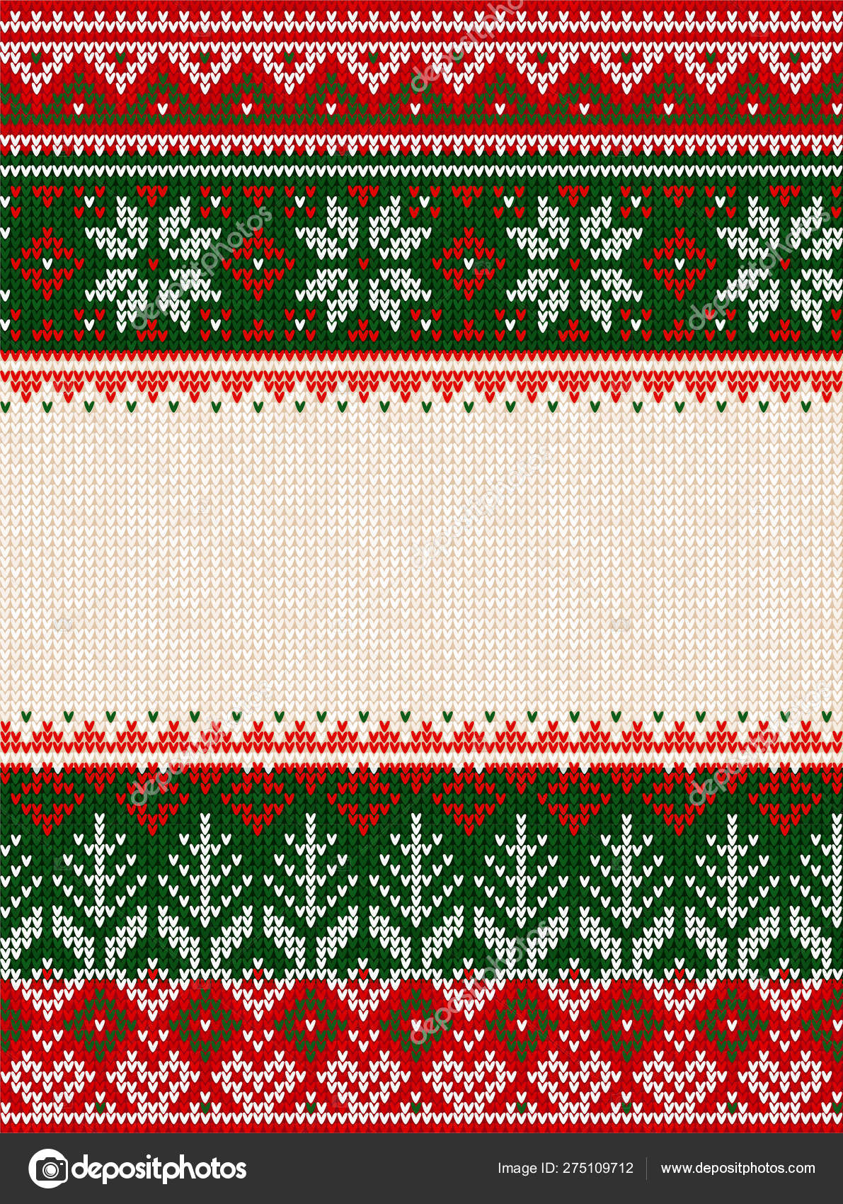 Ugly Sweater Merry Christmas Party Ornament Background Seamless Pattern Stock Vector C Svsunny 275109712