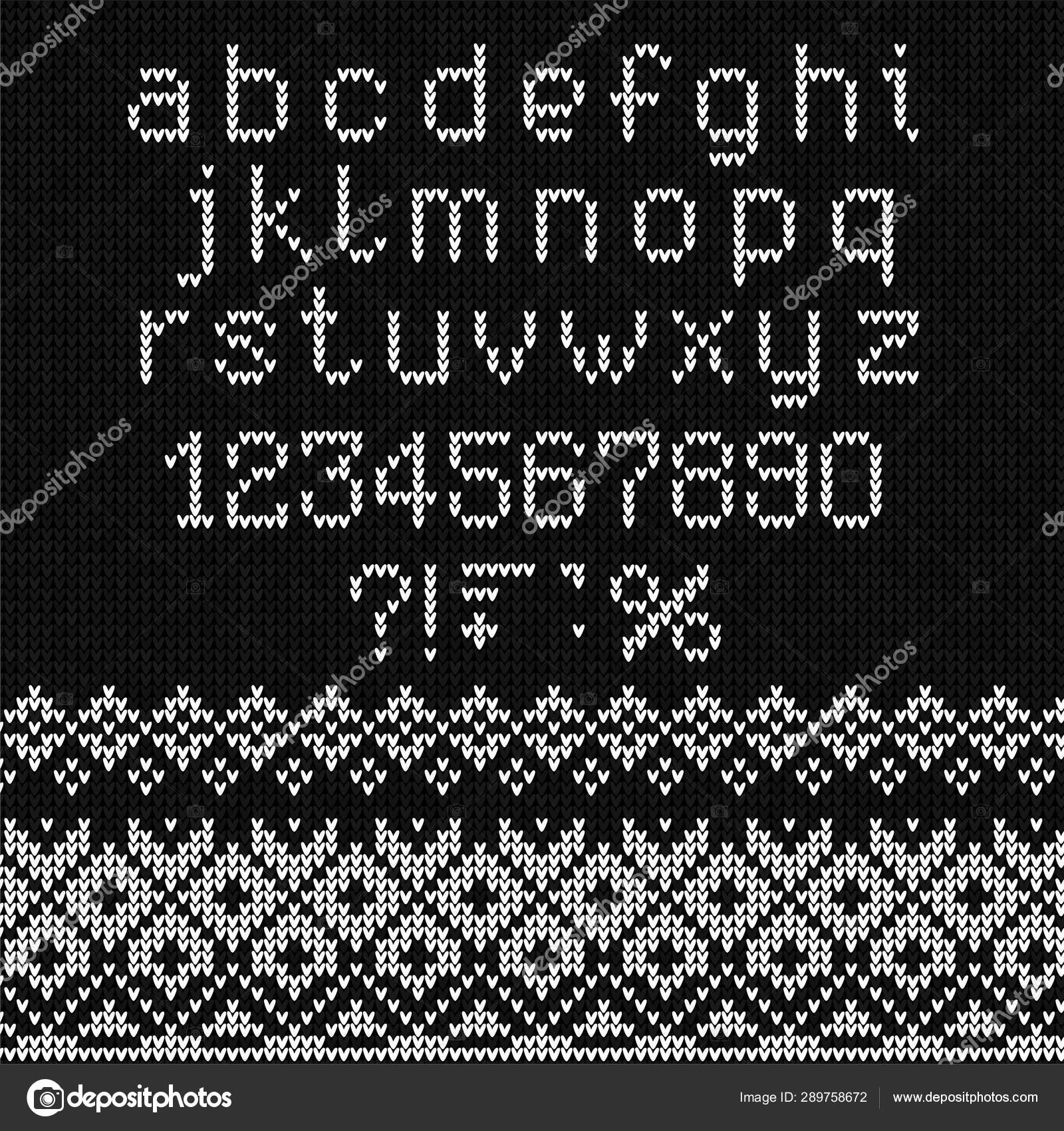 Ugly Sweater Merry Christmas Knitted Background Font