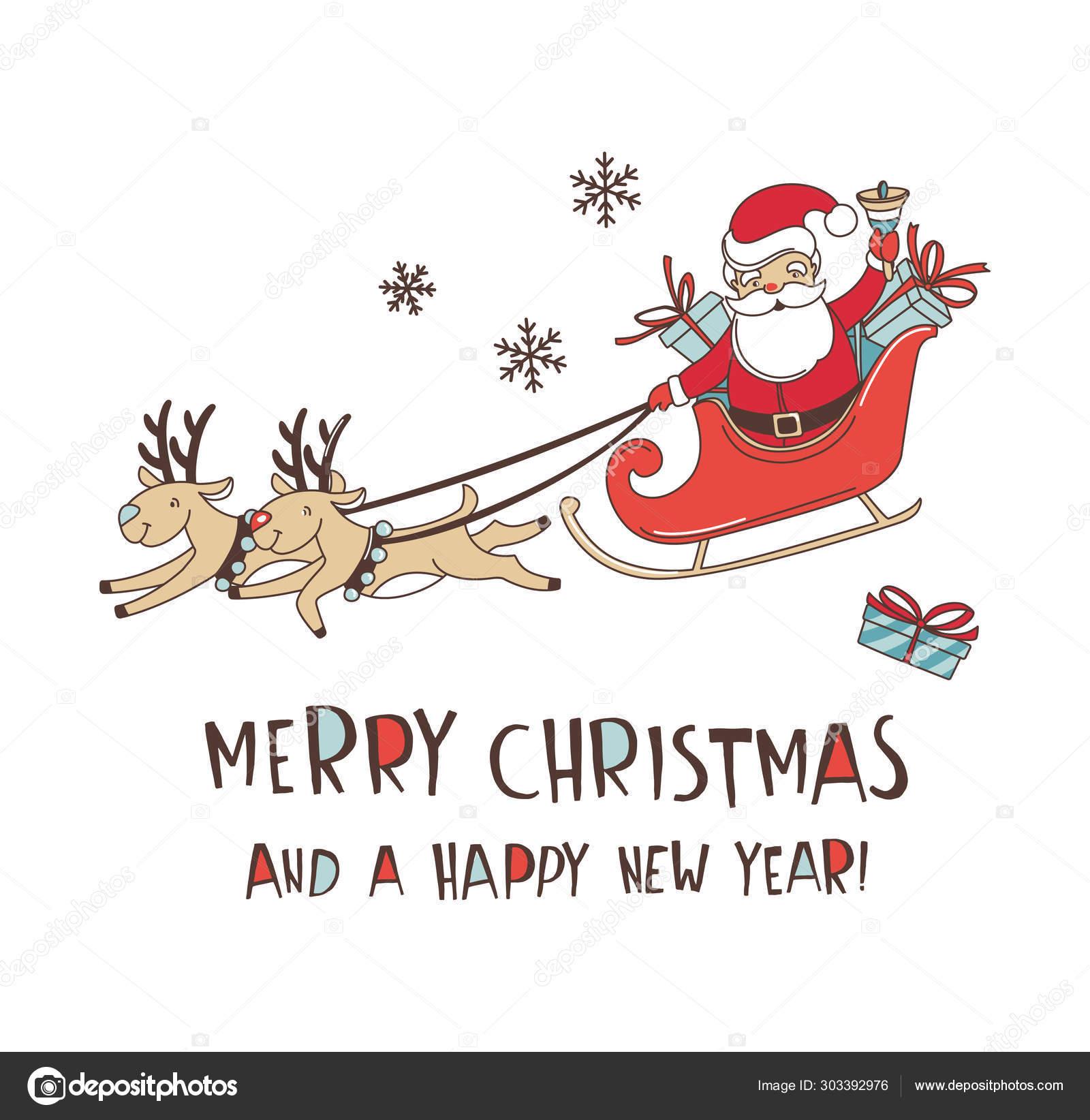 Joyeux Noel Griffonnage Fond De Modèle Sans Couture Santa