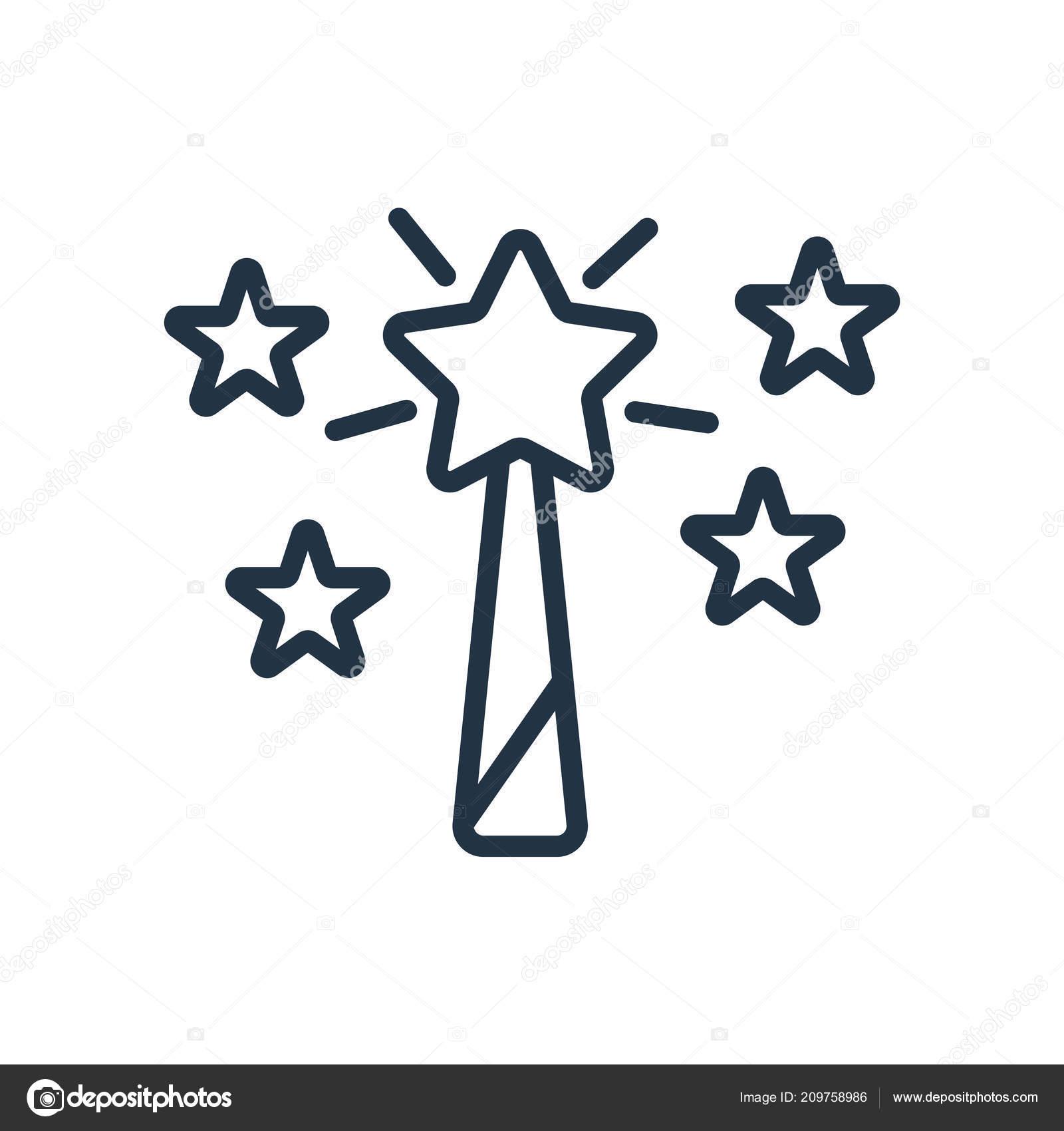 Magische Symbol Vektor Isoliert Auf Weißem Hintergrund Magic