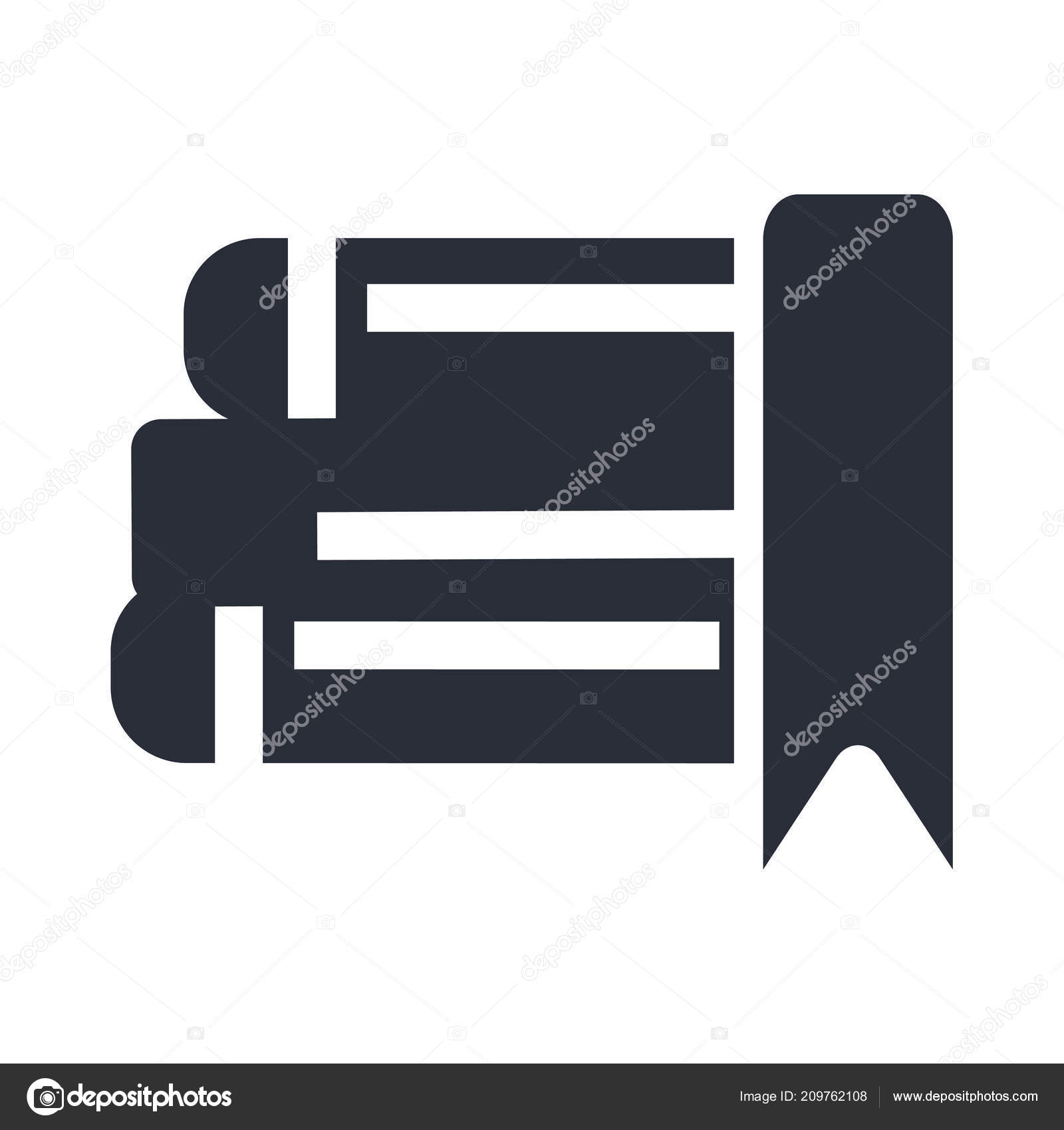 Ebook Icon Vector Isolated White Background Your Web Mobile