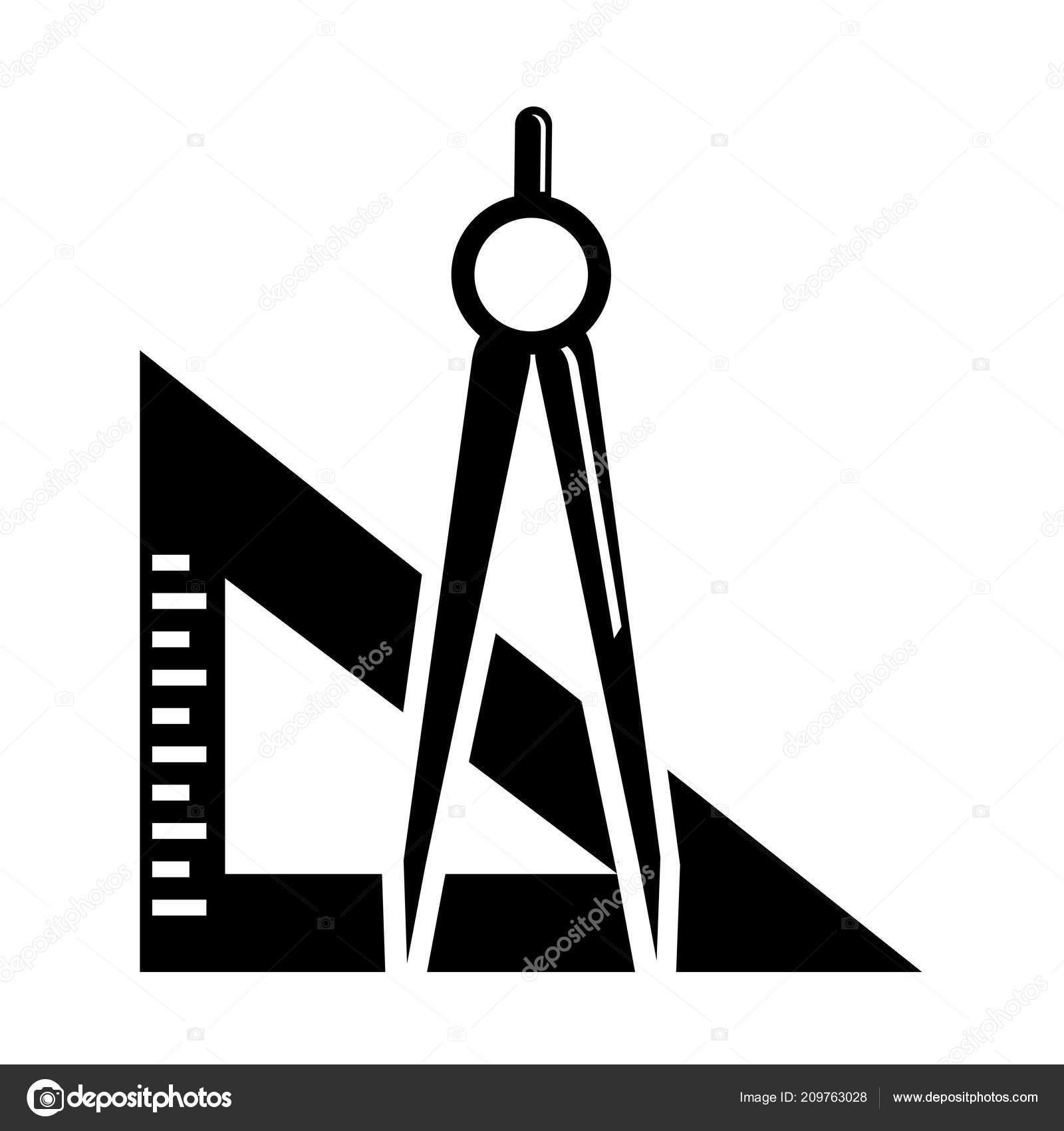 winkelmesser symbol vektor isoliert auf weißem hintergrund für web