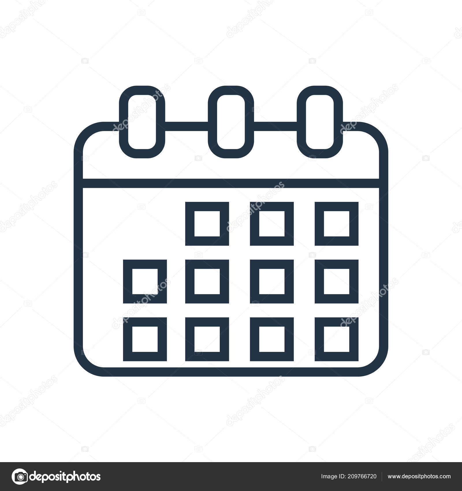 Calendario Icona.Calendario Icona Vettoriale Isolato Sfondo Bianco Segno