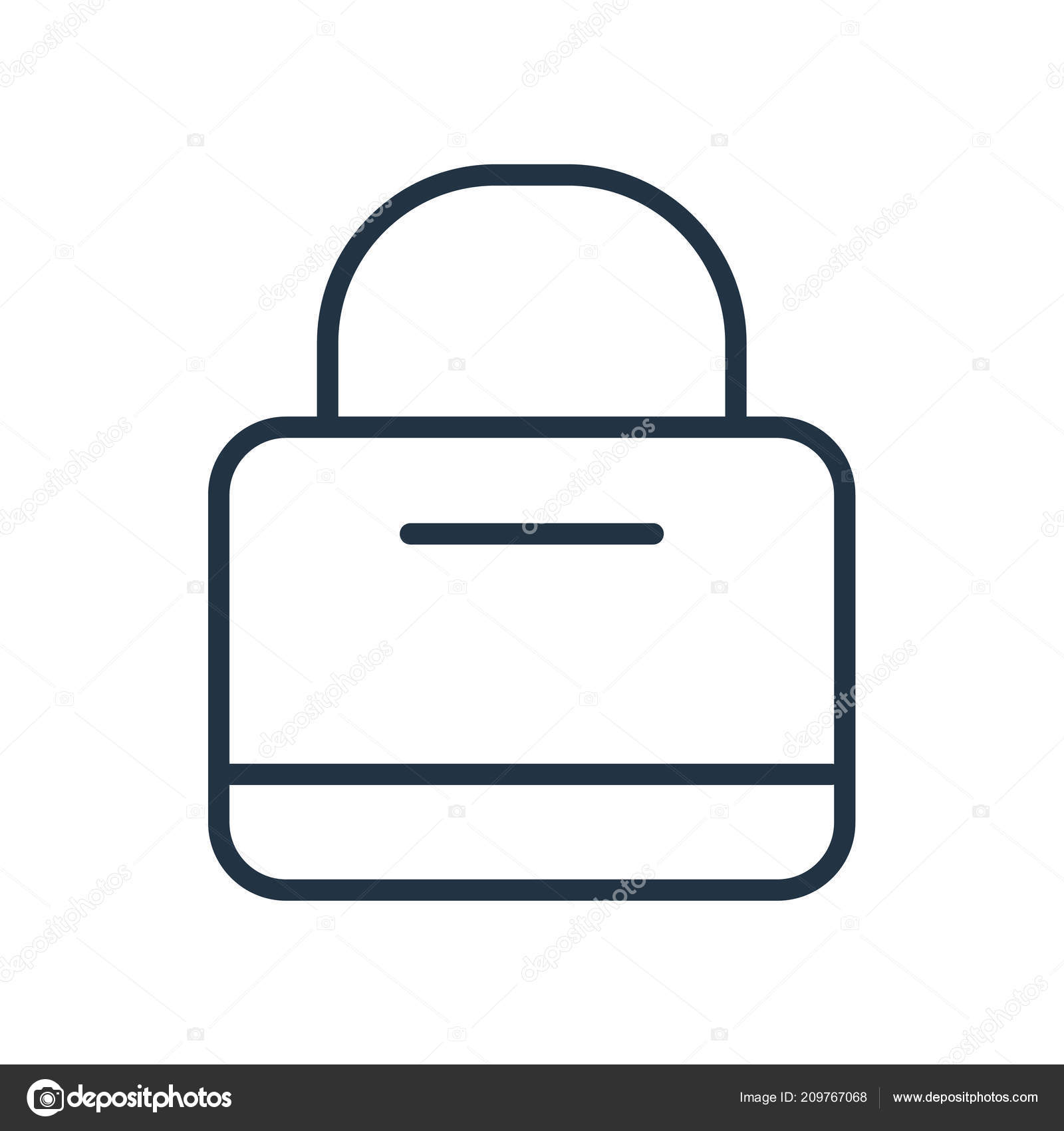 Shopping Bag Icon Vector Isolated White Background Shopping Bag