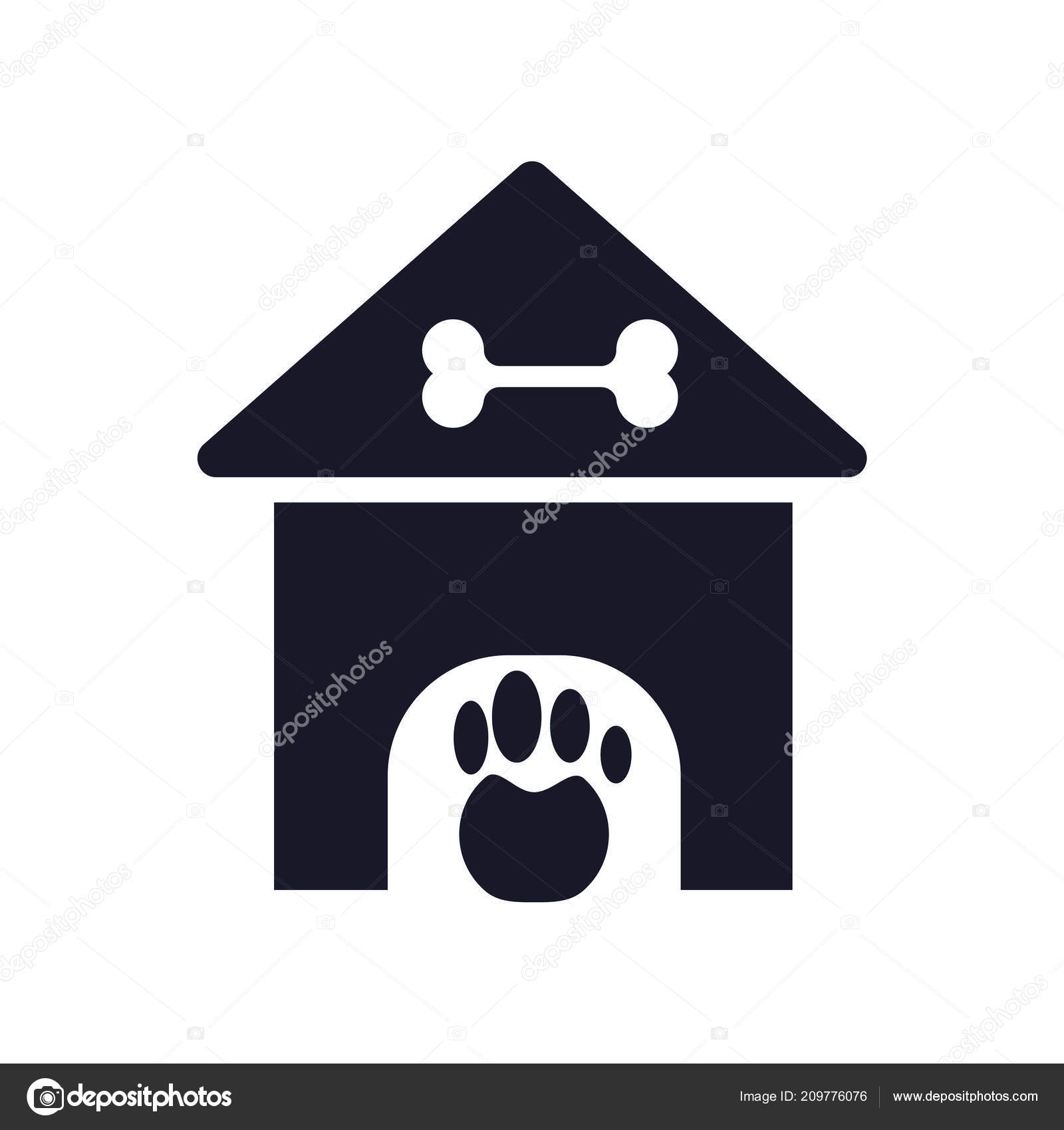 Kennel Icon Vector Isolated White Background Your Web Mobile