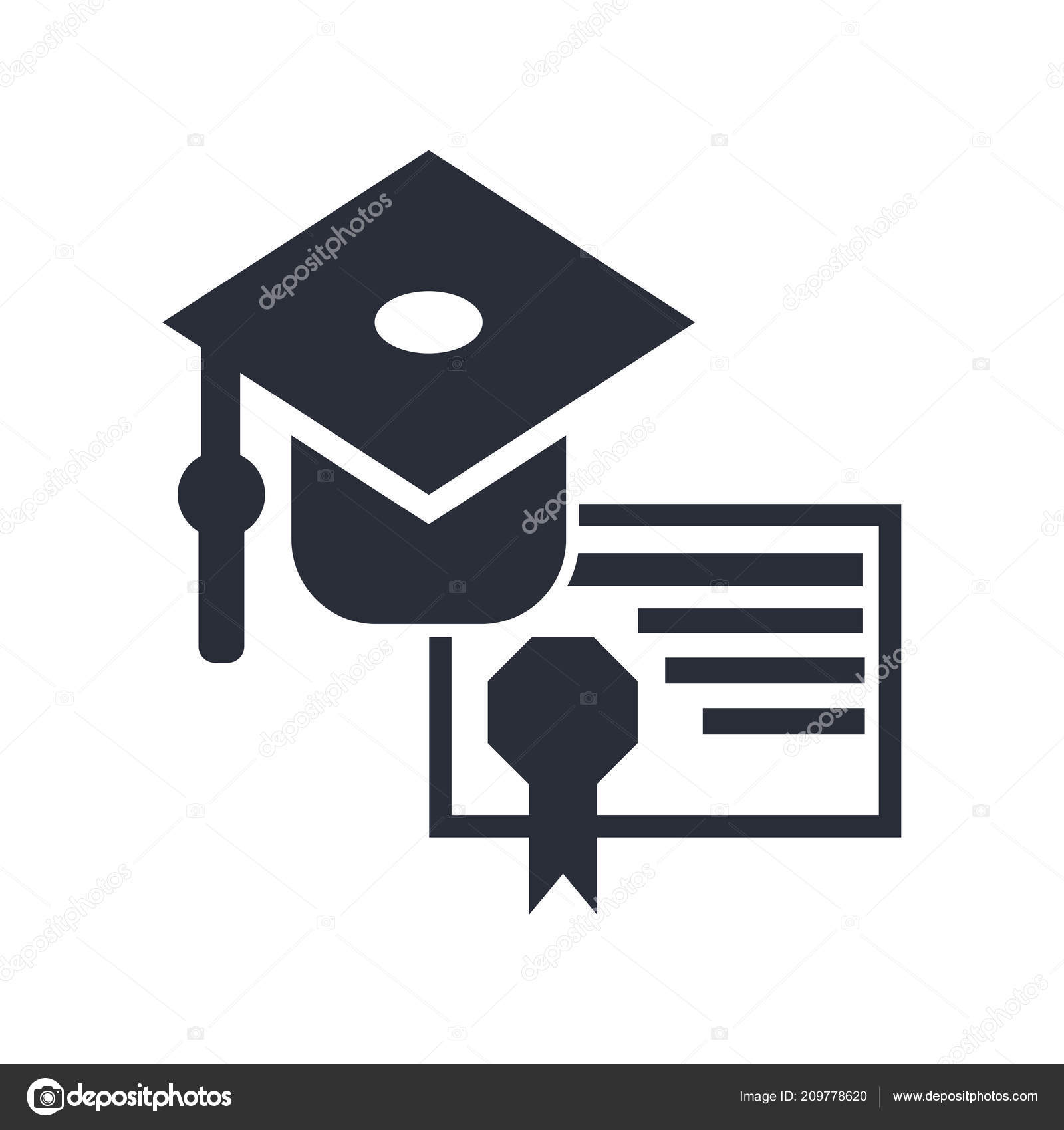 32fa6defb54 Graduation Cap Diploma Icon Vector Isolated White Background Your Web —  Stock Vector