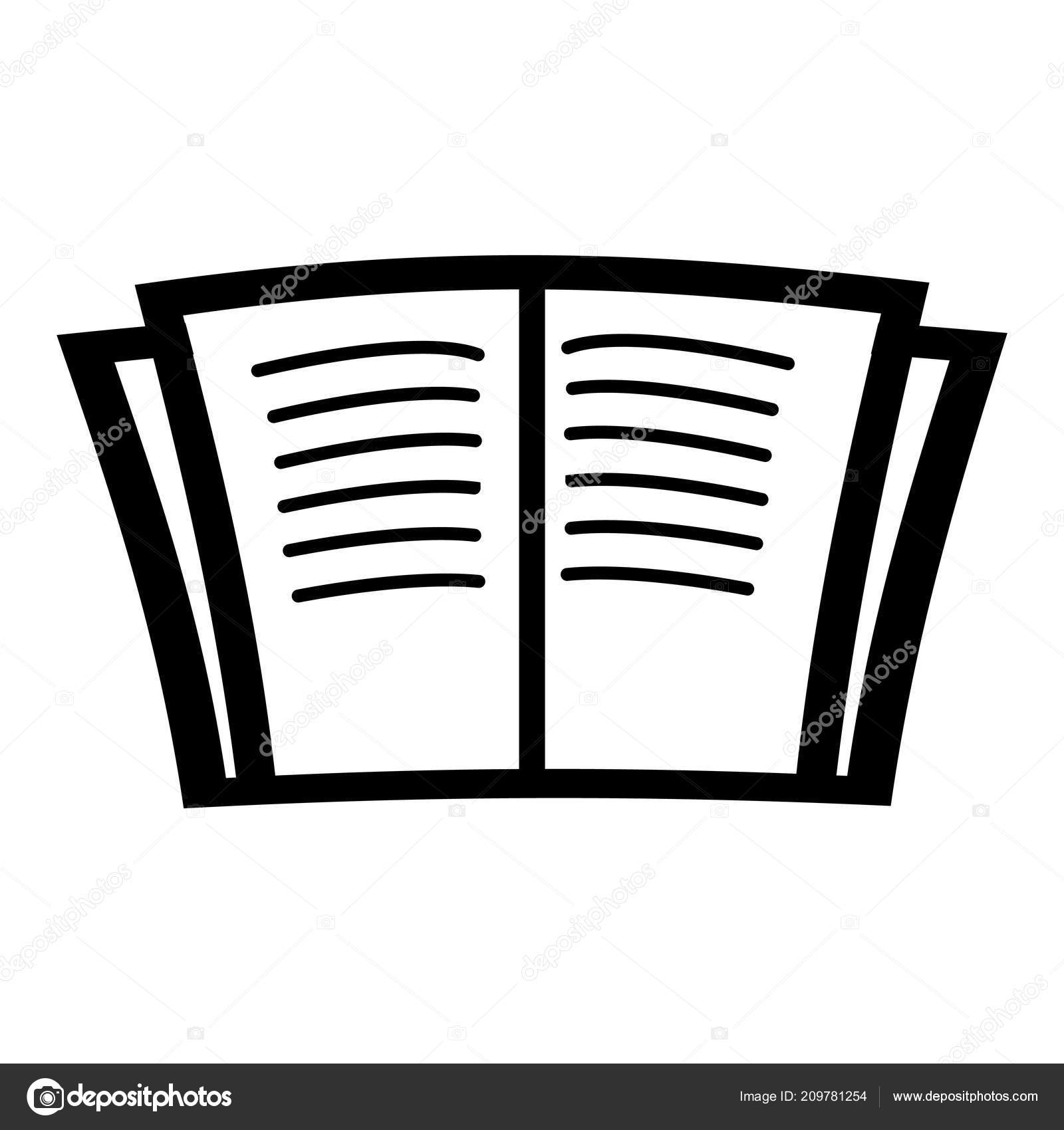 Open Book Icon Vector Isolated White Background Your Web