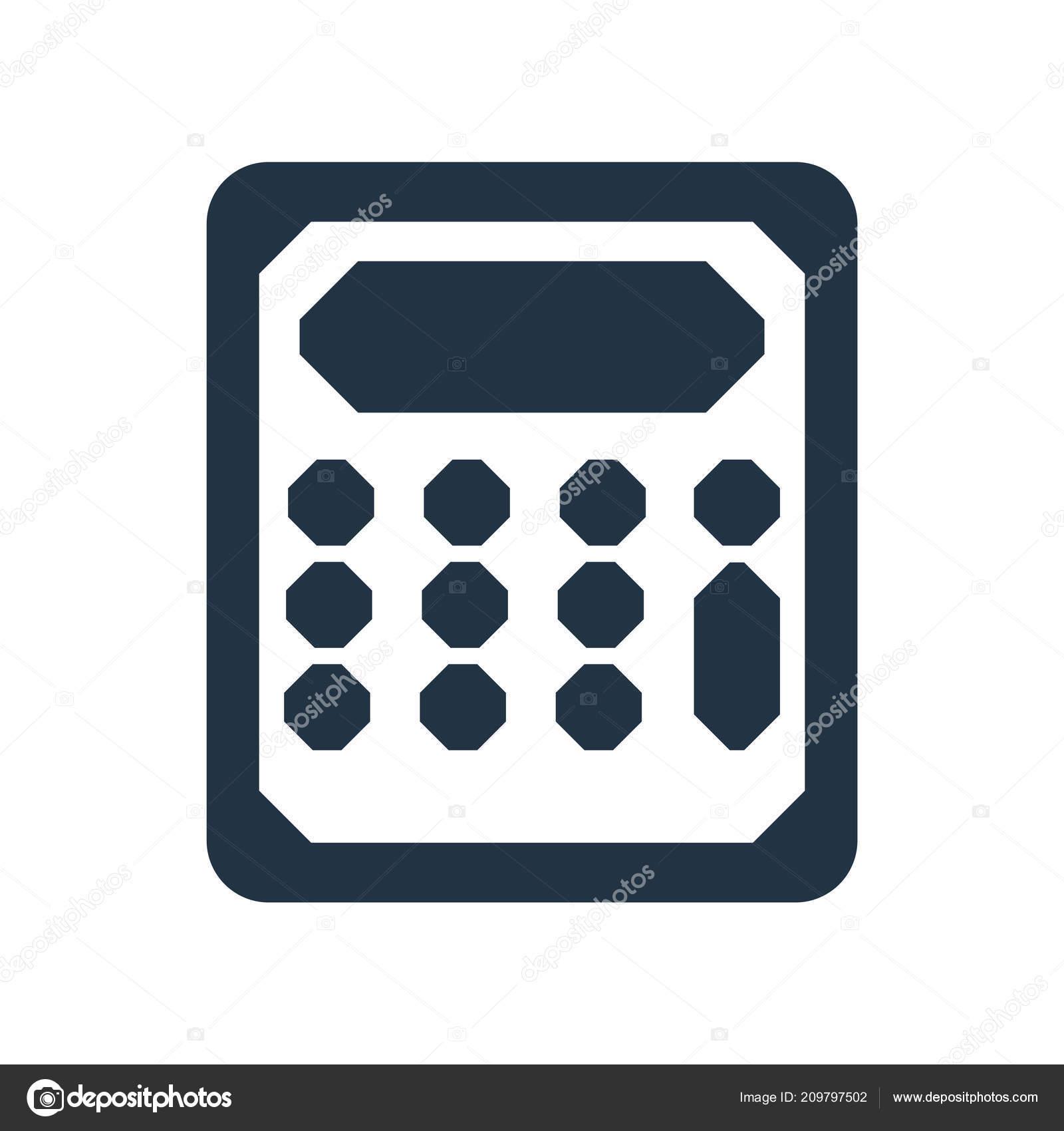 Rechner Icon Vektor Isoliert Auf Weißem Hintergrund Taschenrechner