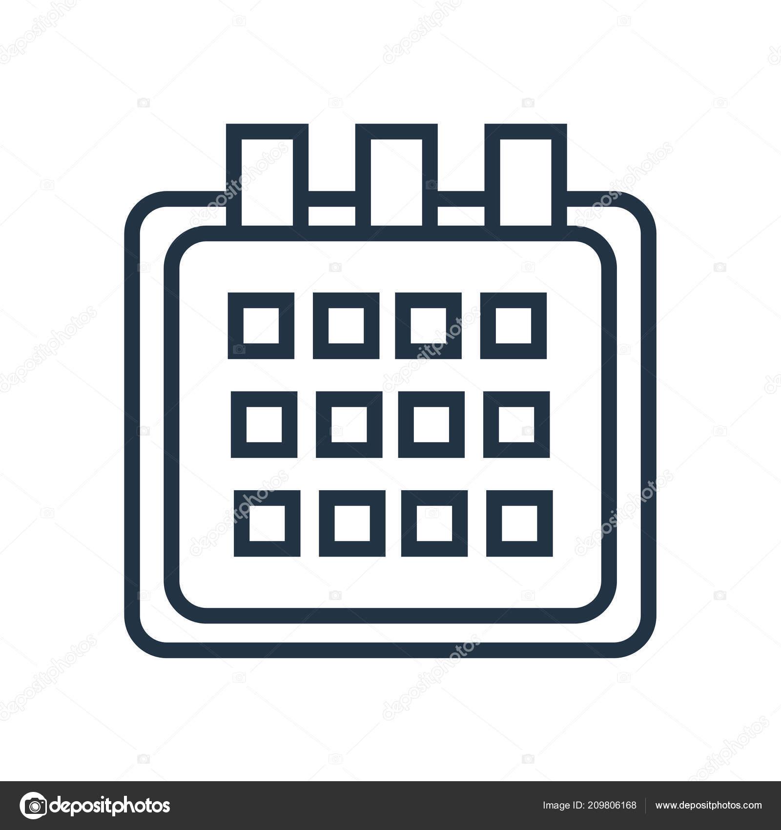 Calendario Vector Blanco.Calendar Icon Vector Isolated White Background Calendar