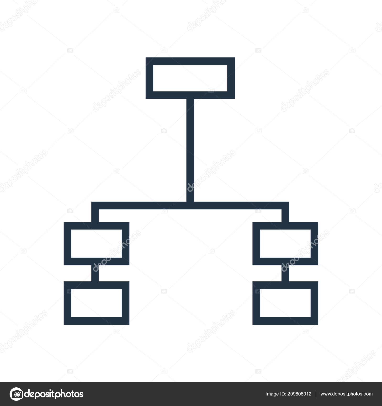 Vector Icono Estructura Jerárquica Aislado Sobre Fondo