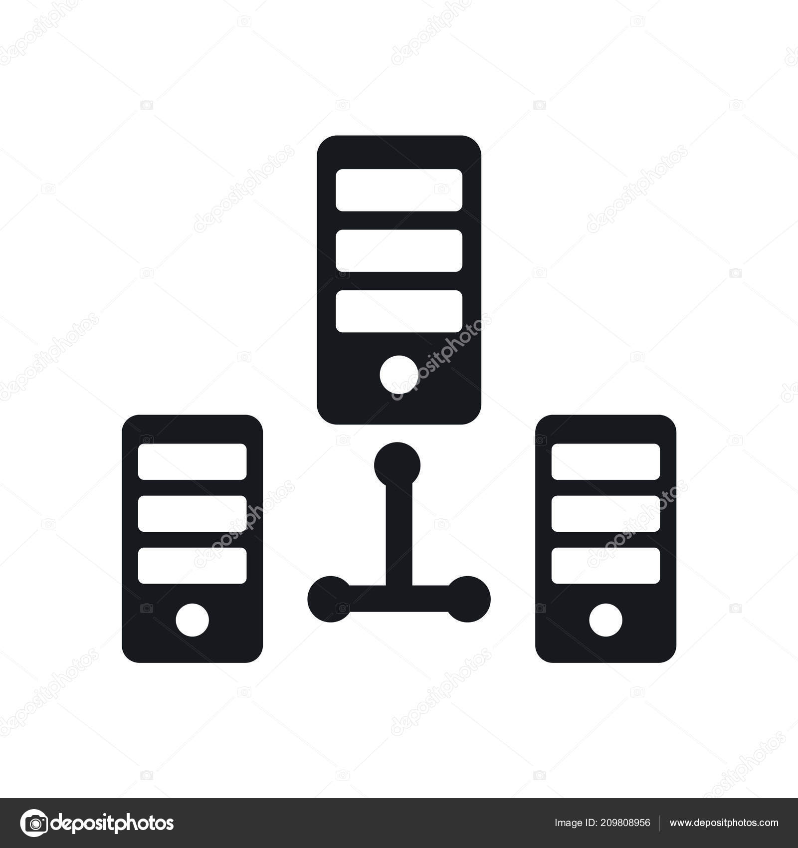 Server Icon Vector Isolated White Background Your Web Mobile