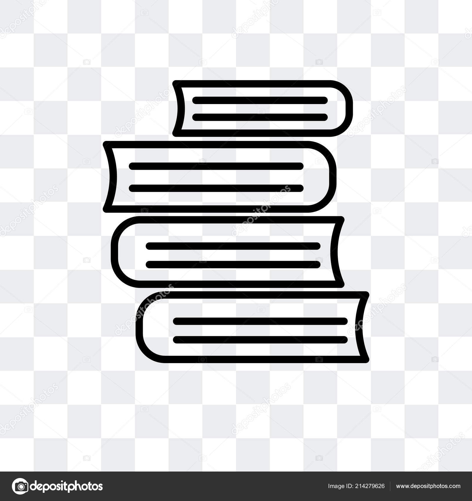 Books Vector Icon Isolated On Transparent Background Books