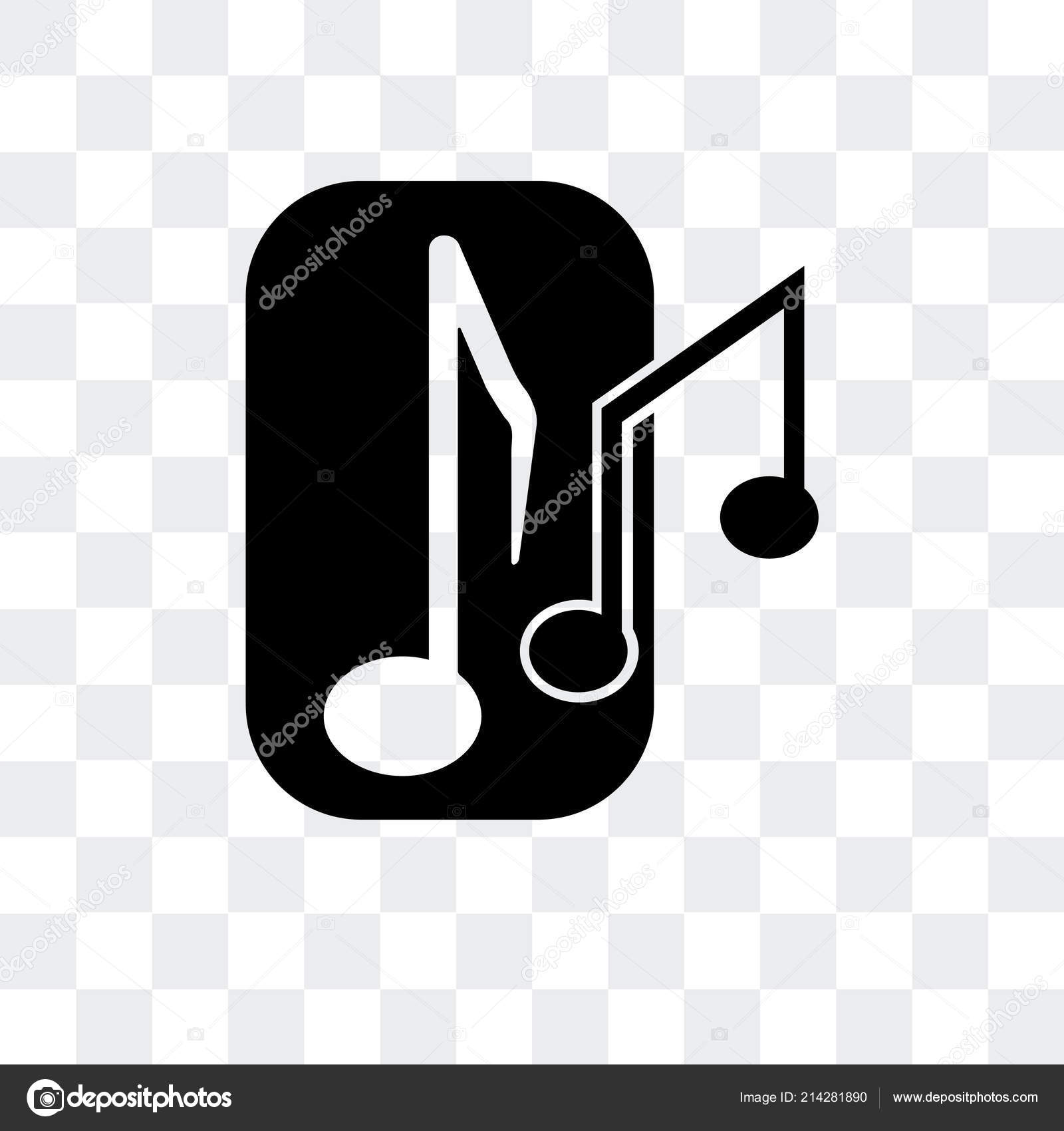 Musical Note Vector Icon Isolated On Transparent Background Mus