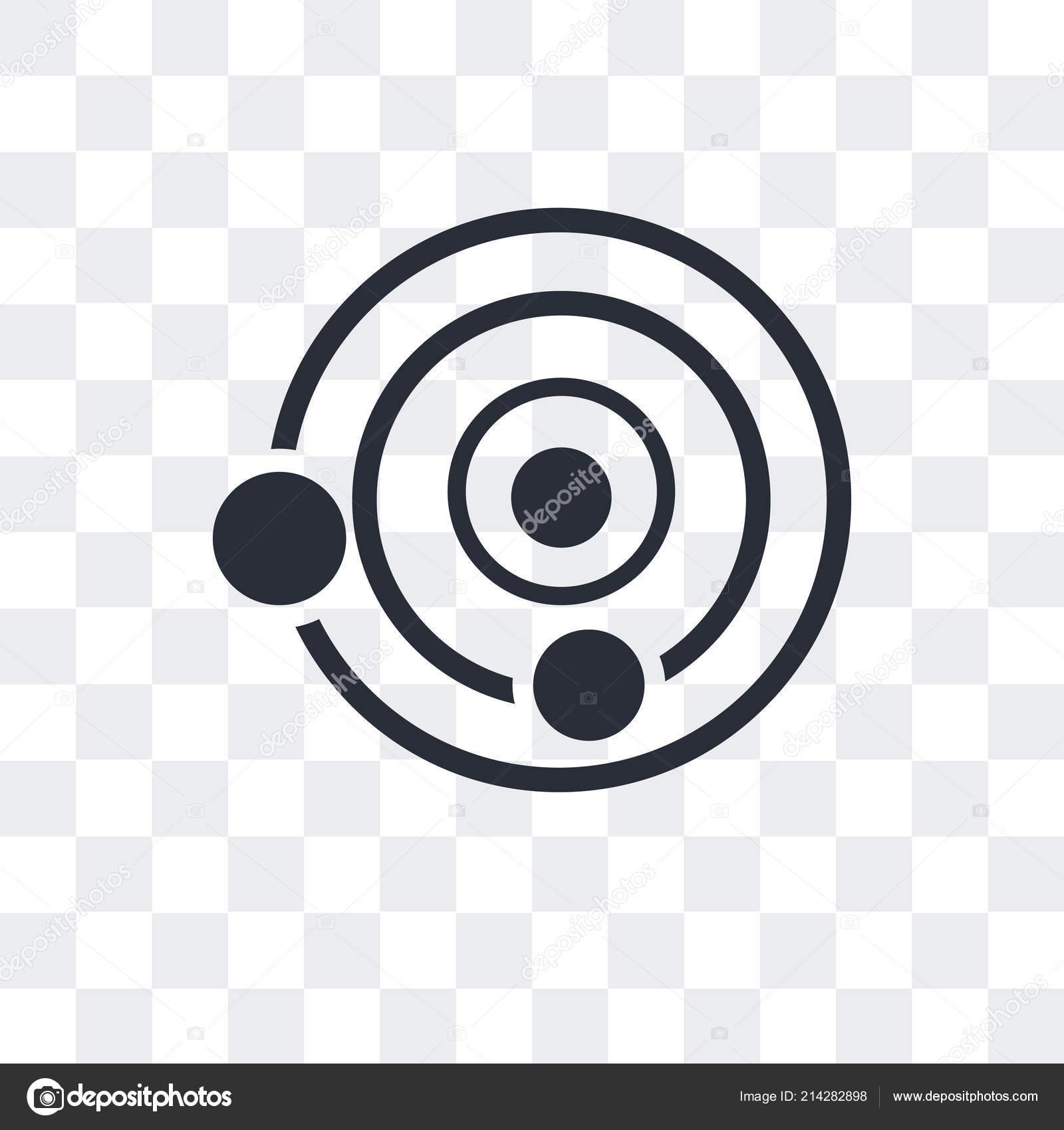 ícone De Vector Estrutura Atômica Isolado Em Fundo